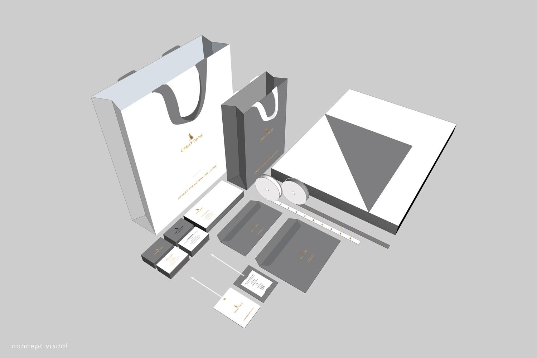 Great Dane Furniture Brand Collateral Full Suite Concept Design