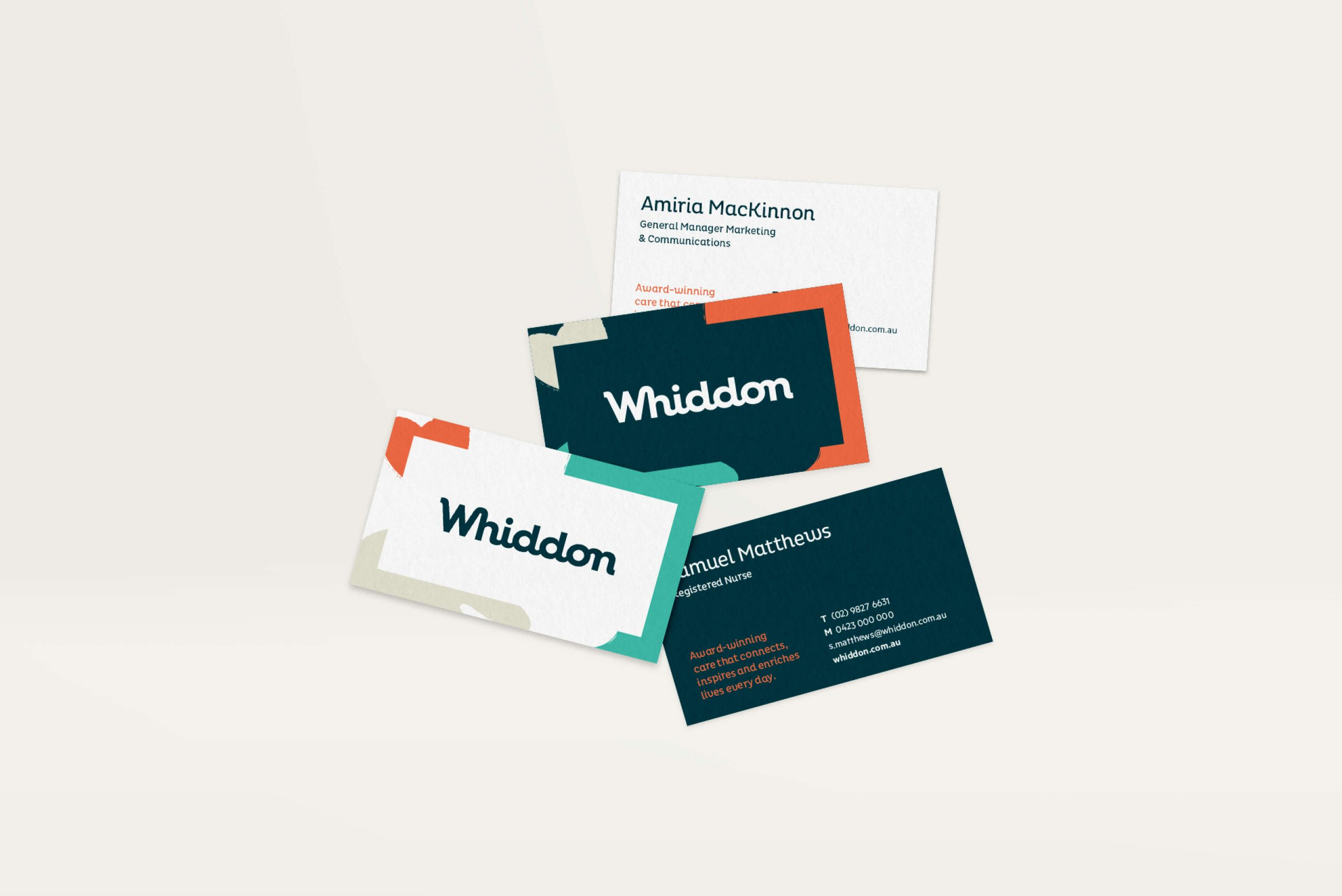 Whiddon Brand Refresh - Business cards