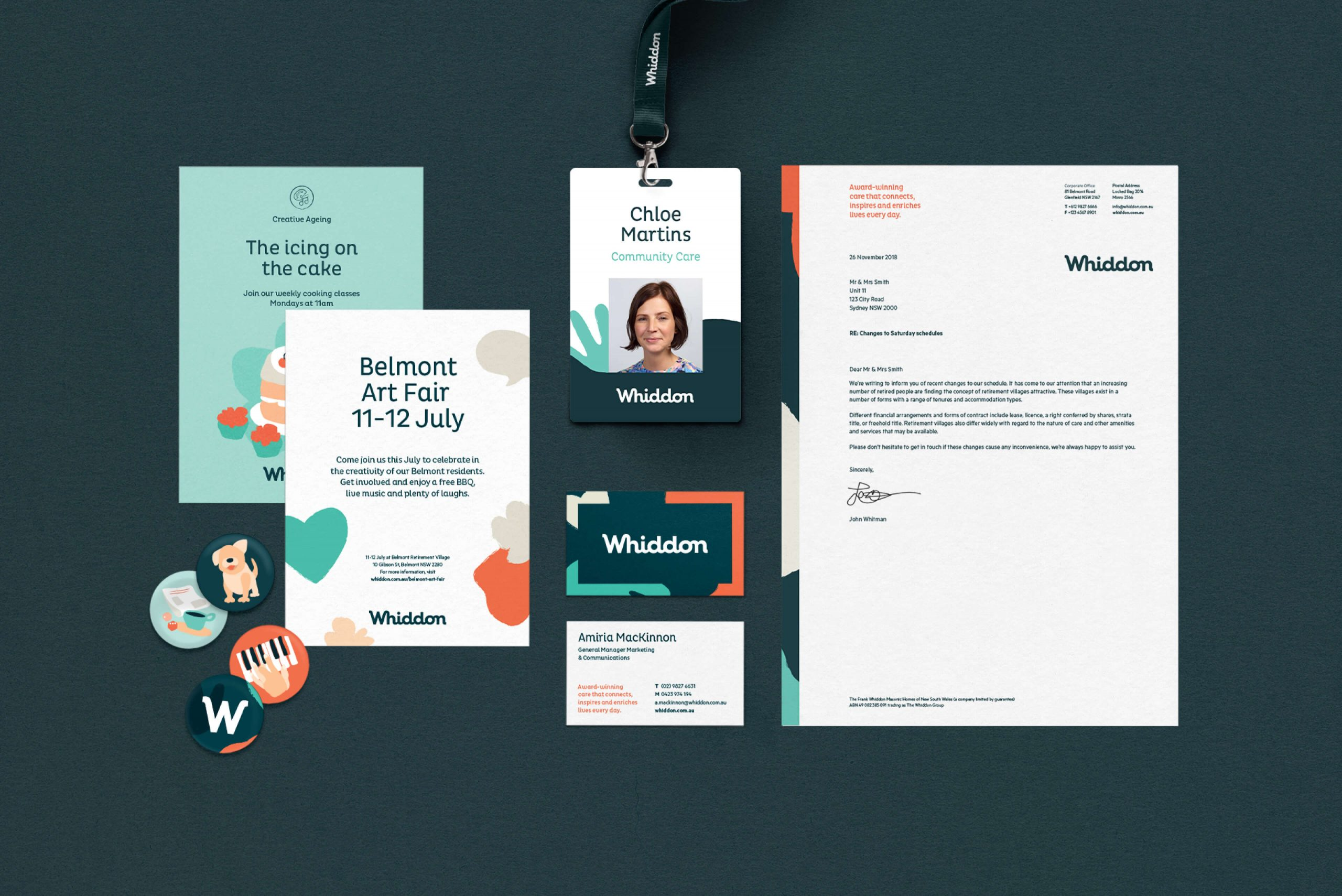 Whiddon Brand Refresh - Key corporate collateral