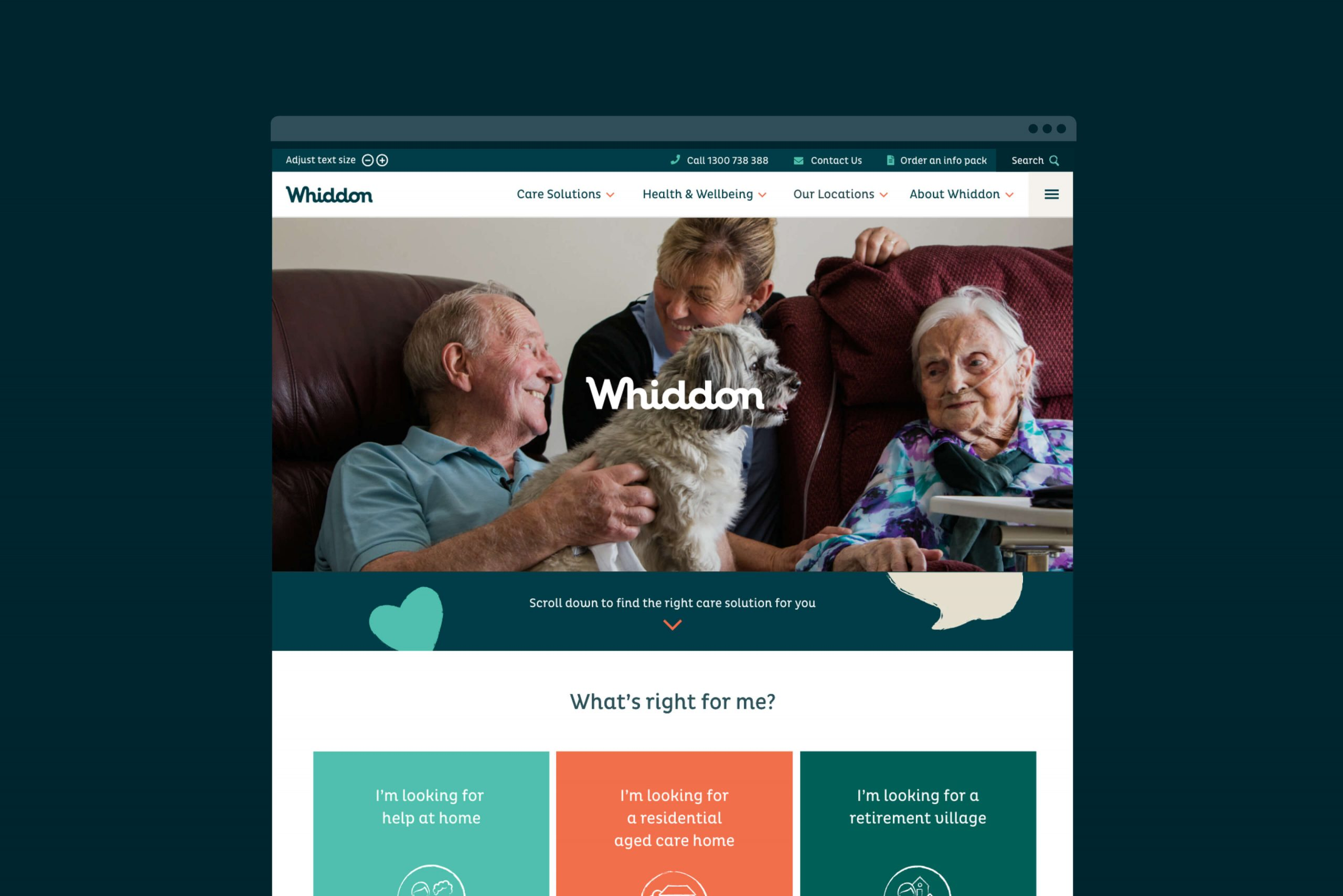 Whiddon Brand Refresh - Digital homepage design intent for desktop
