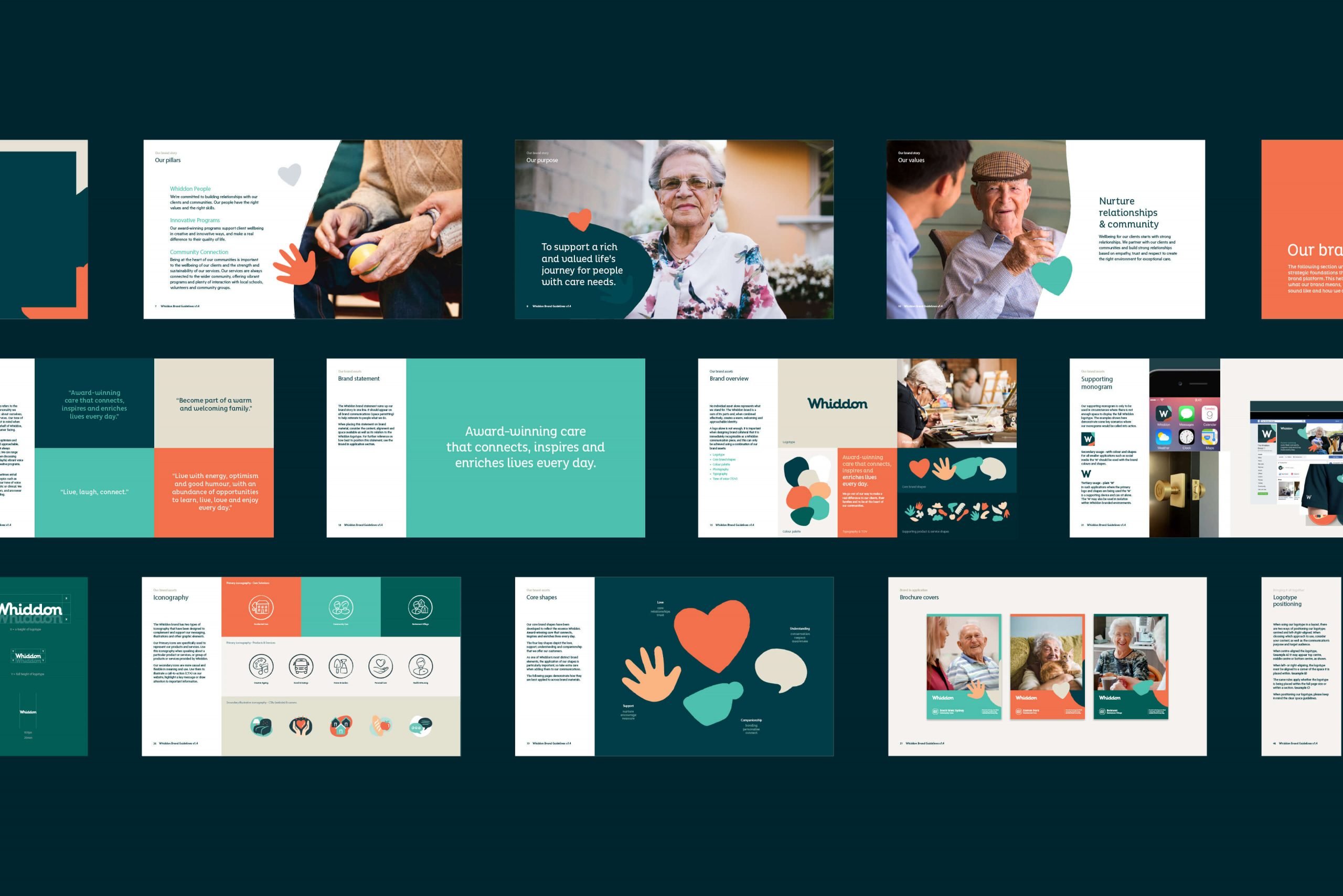 Whiddon Brand Refresh - Overview of key brand guidelines pages