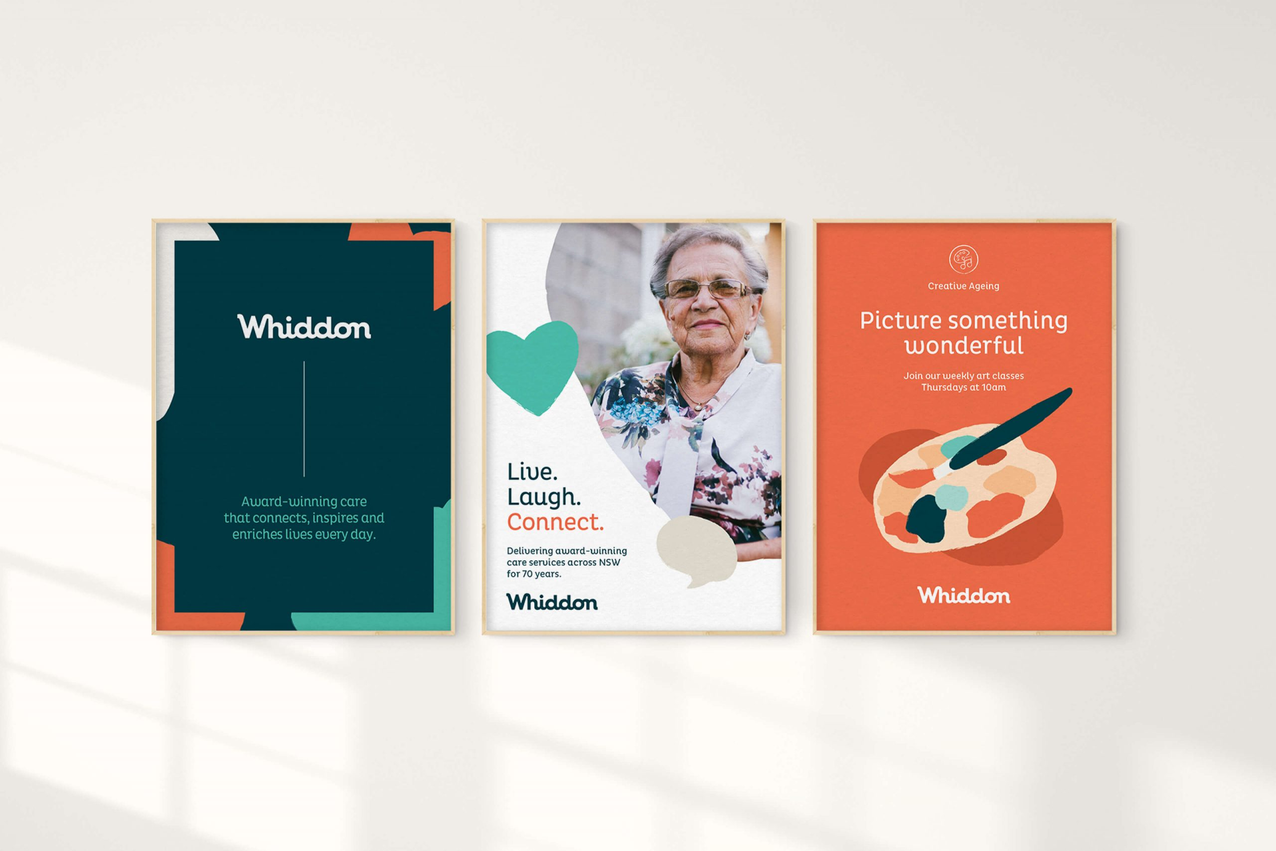 Whiddon Brand Refresh - Posters visualising the brand flexibiity in design execution