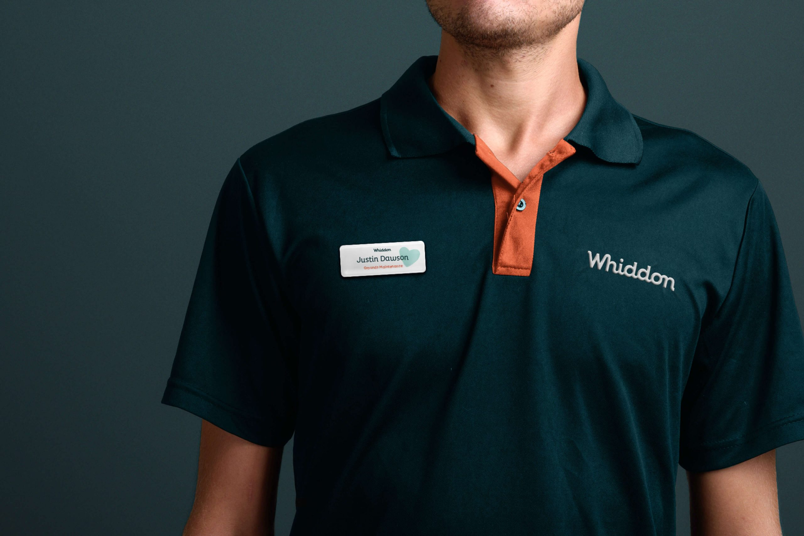 Whiddon Brand Refresh - Uniform and name badge