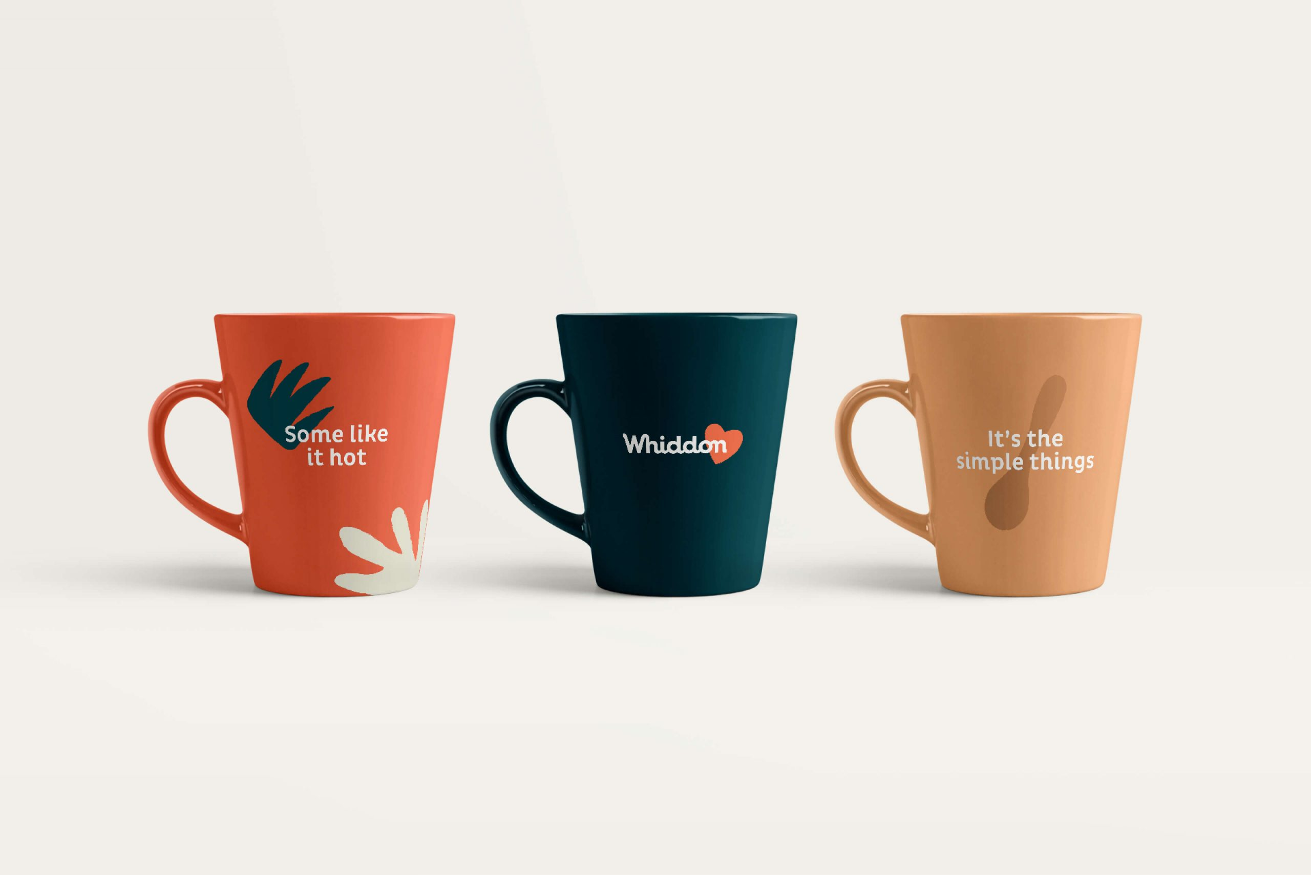 Whiddon Brand Refresh - branded mugs with tone of voice statements