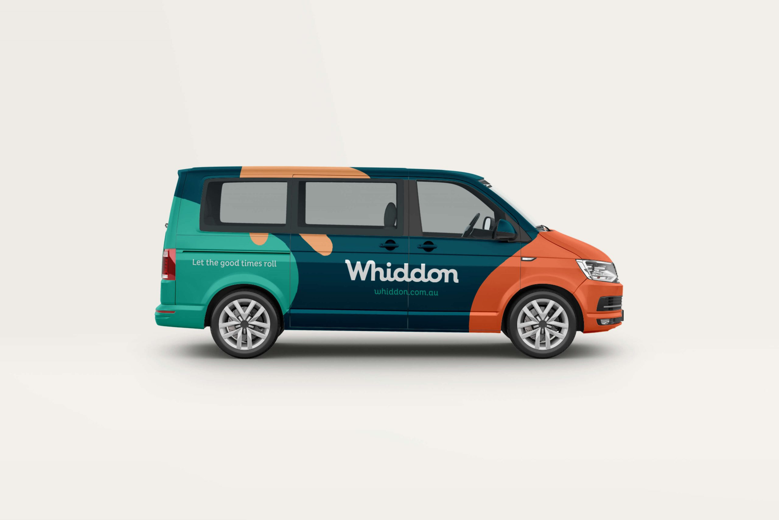 Whiddon Brand Refresh - branded vehicle livery for the transportation van
