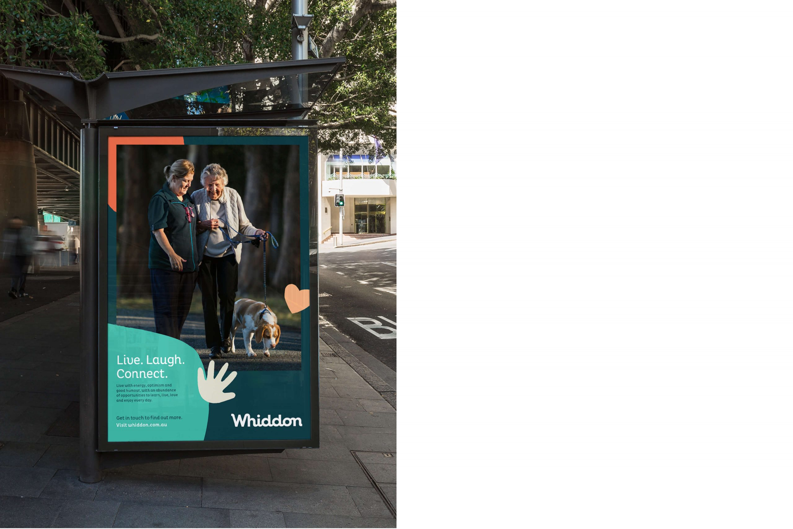 Whiddon Brand Refresh - Template for out-of-home bus stop advertising