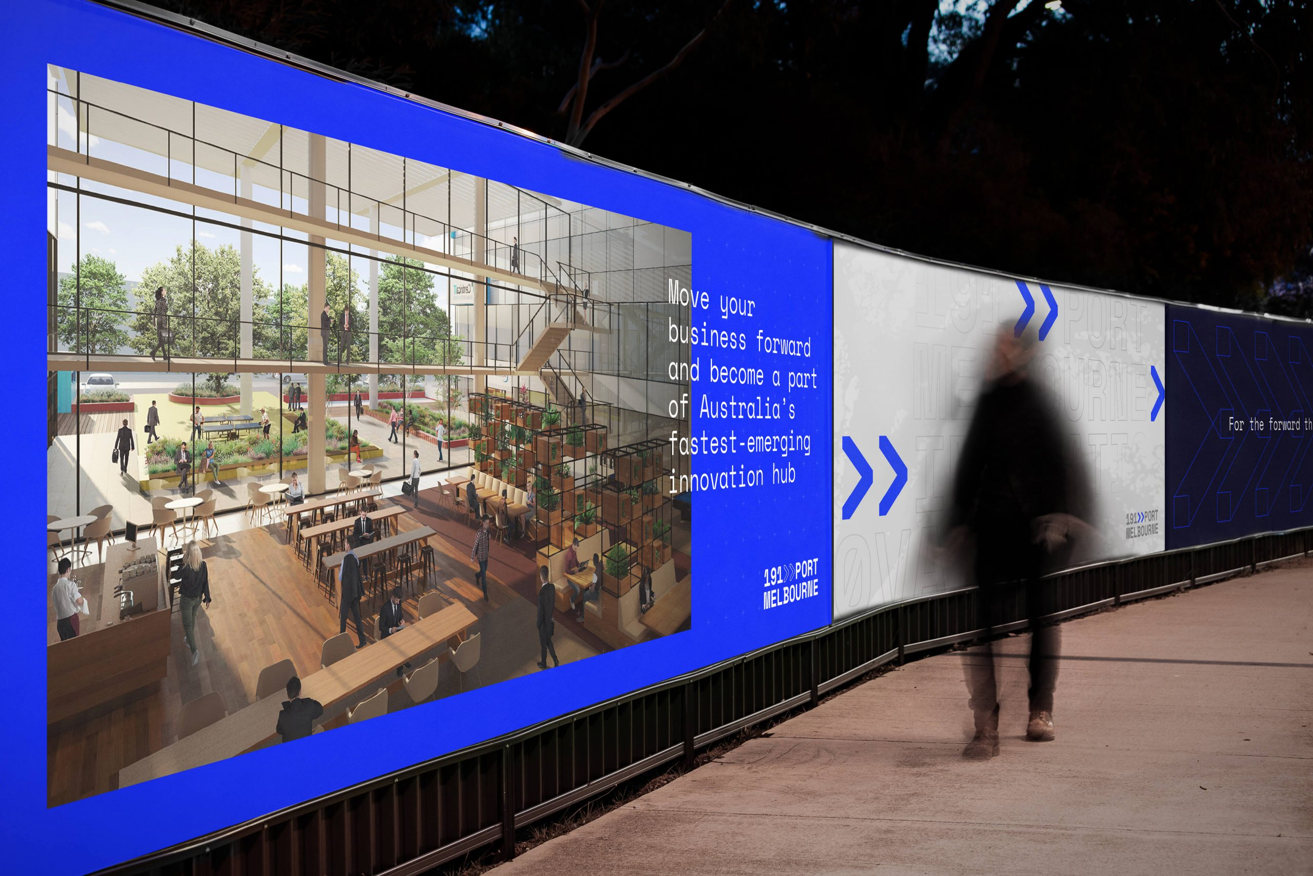 191 Port Melbourne - Property Brand Identity - Hoarding Design & Communication