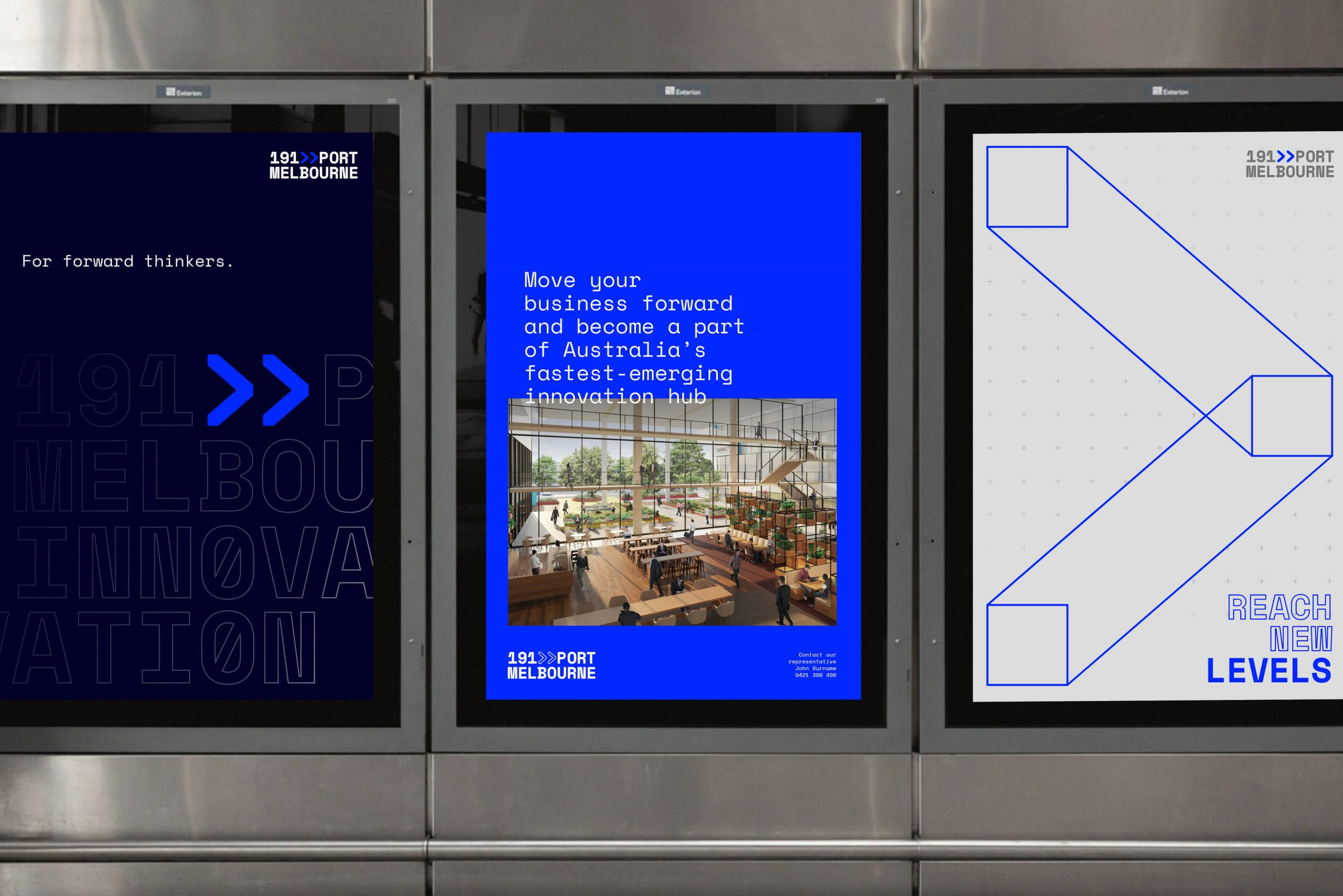 191 Port Melbourne - Property Brand Identity - Posters with Graphic Language & Messaging