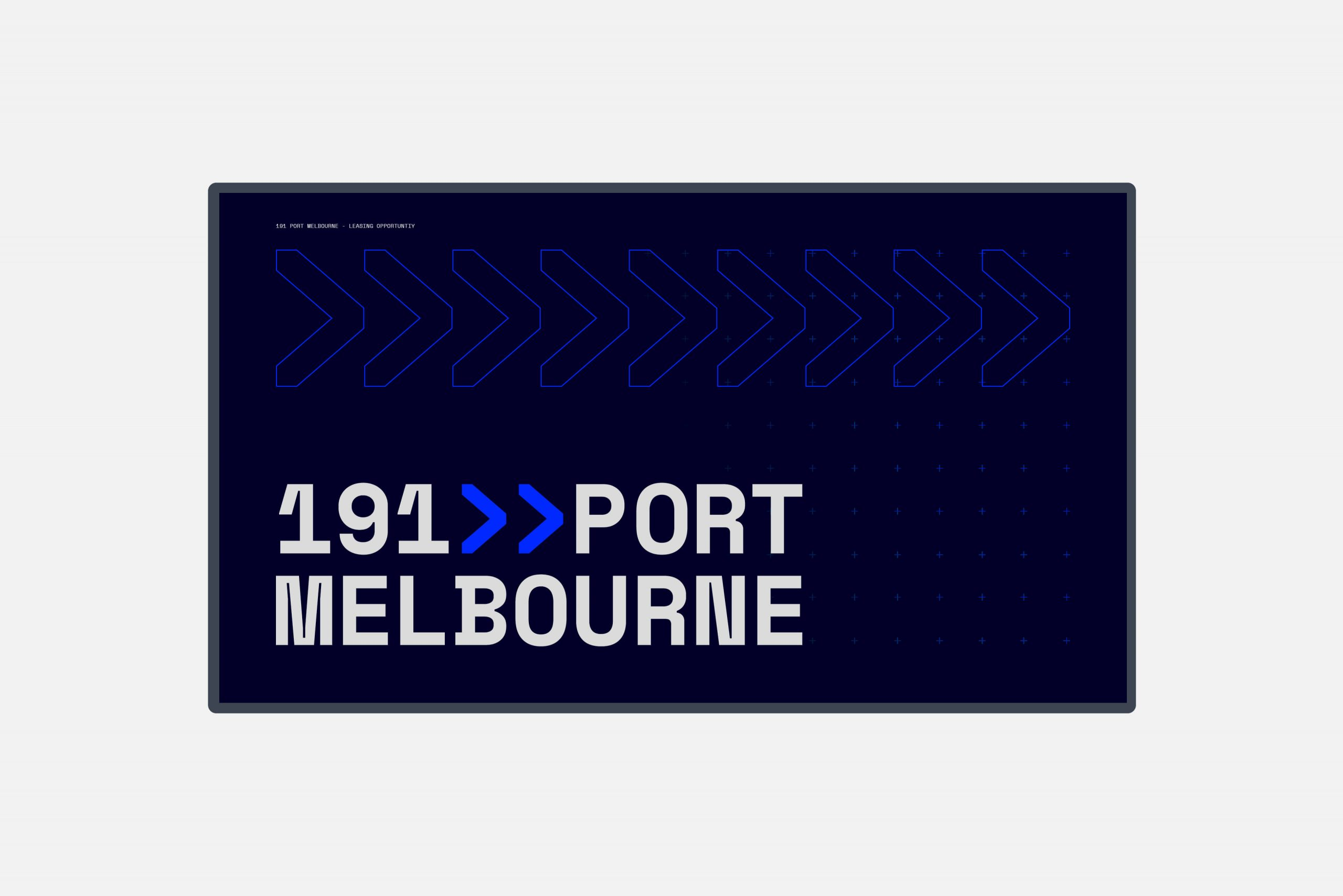 191 Port Melbourne - Property Brand Identity - Digital IM Brochure Design Cover