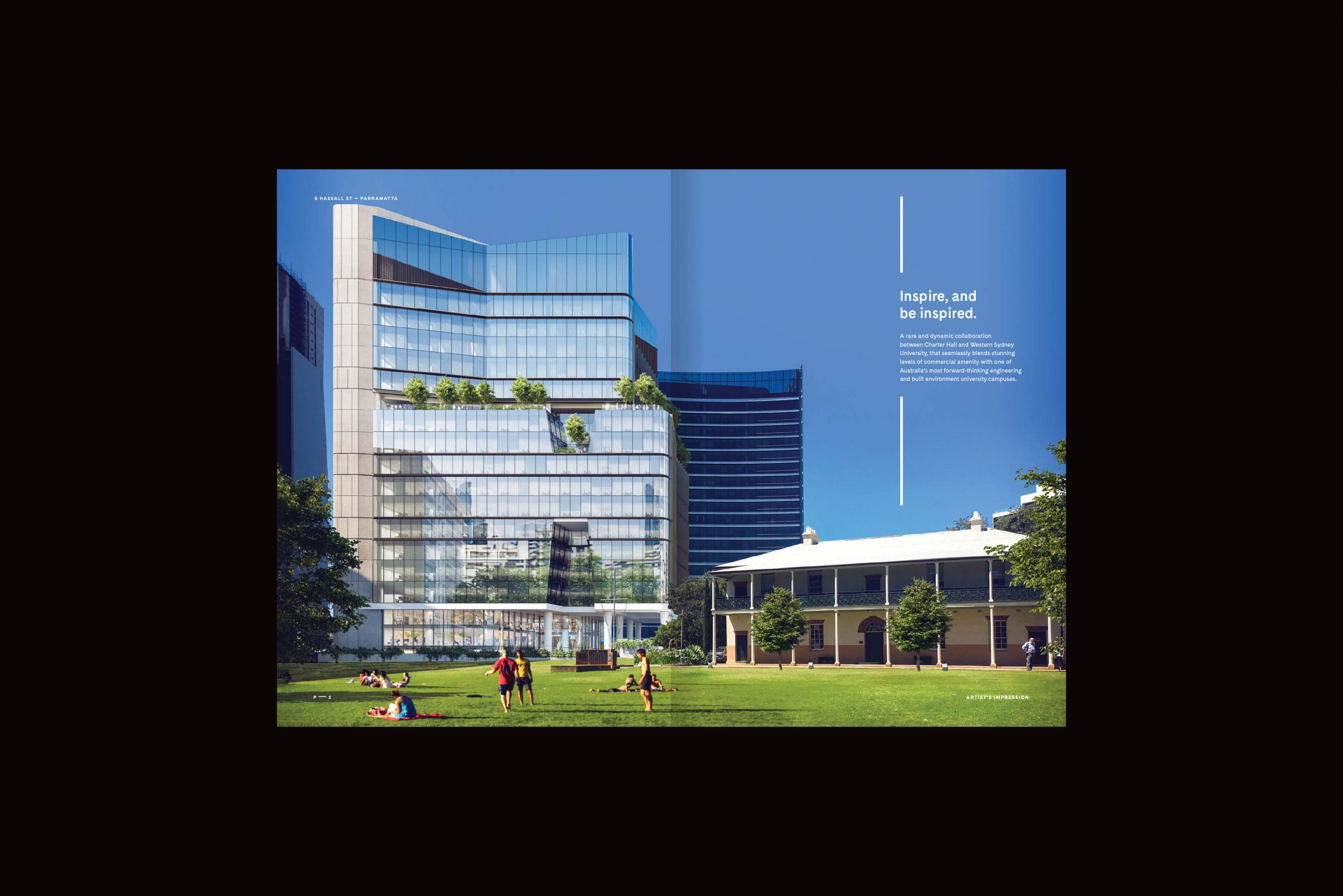 6 Hassall St Property Brand for Charter Hall - Brochure Spread 1