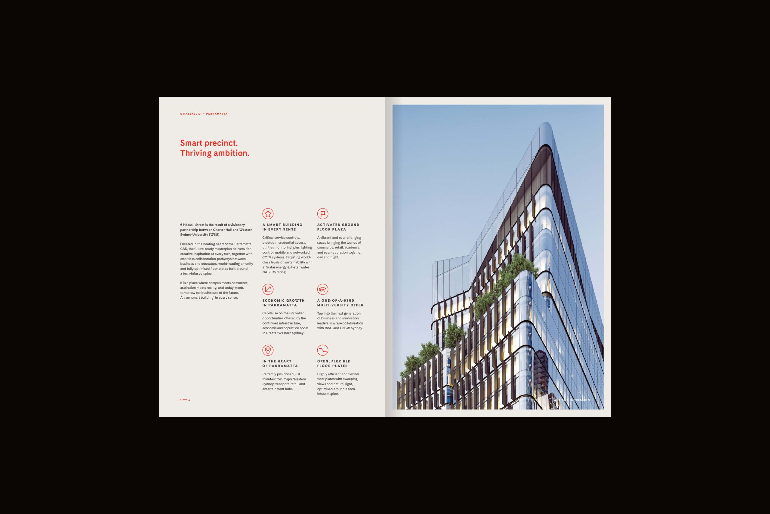 6 Hassall St Property Brand for Charter Hall - Brochure Spread 2