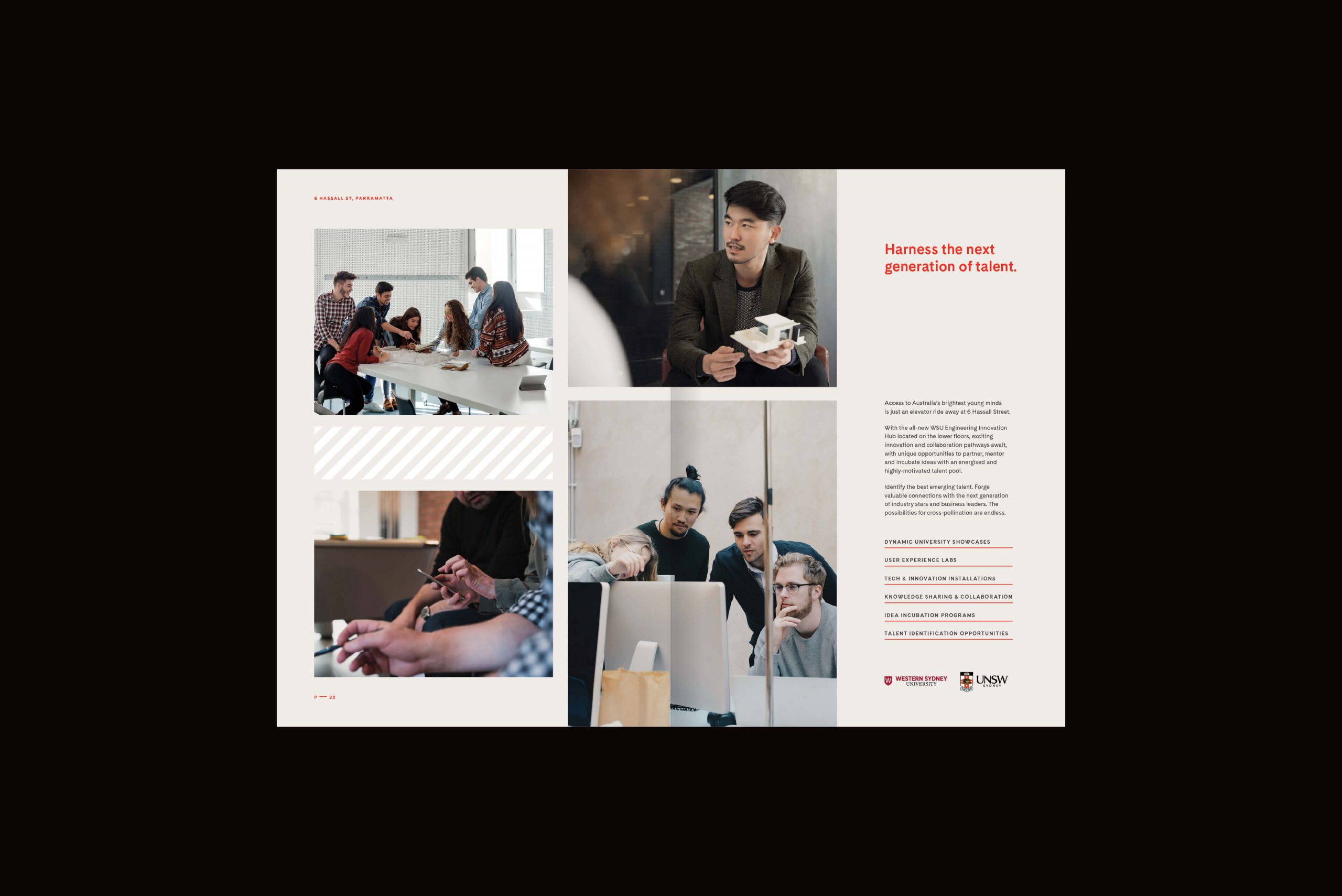 6 Hassall St Property Brand for Charter Hall - Brochure Spread 5