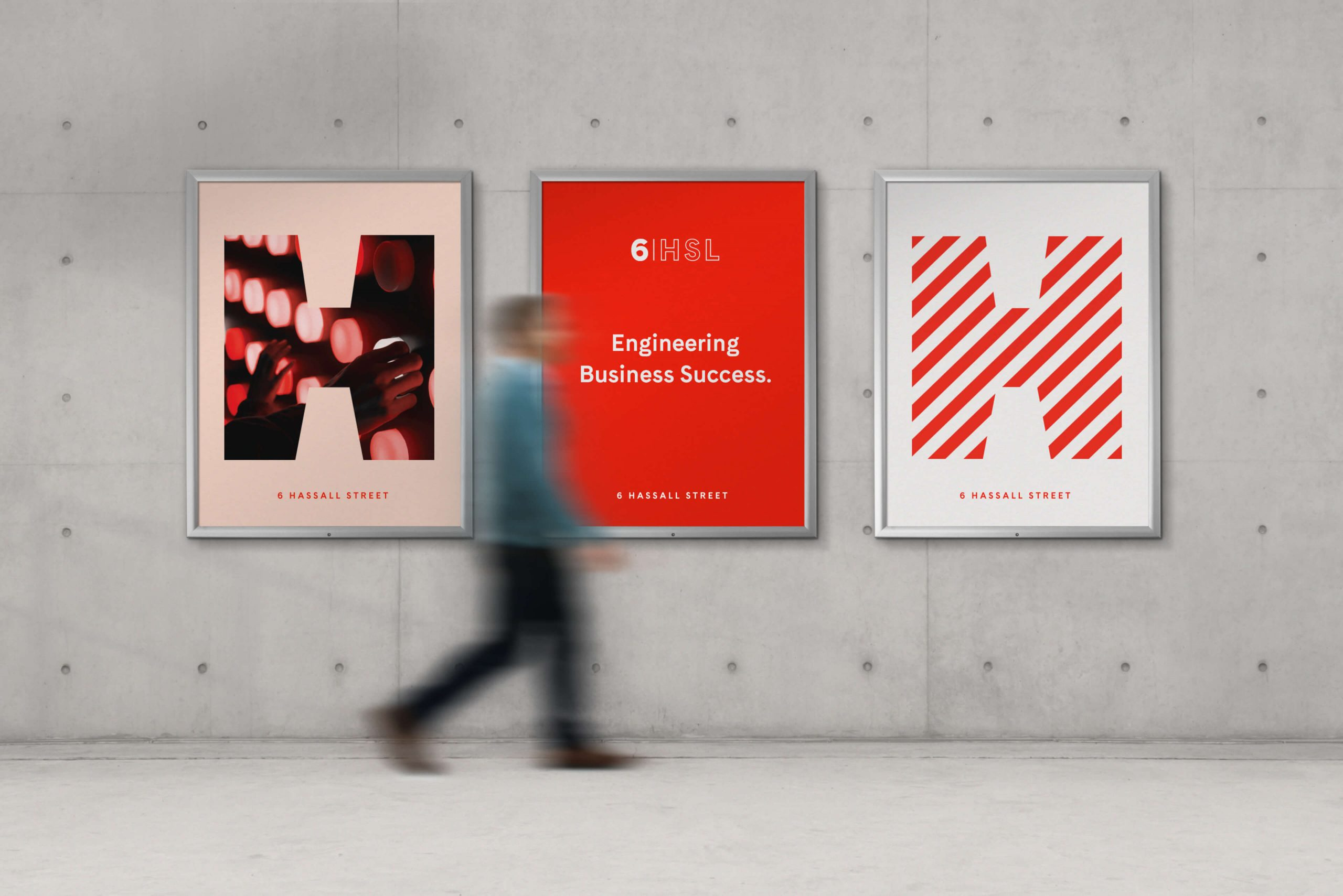 6 Hassall St Property Brand for Charter Hall - Comms Posters