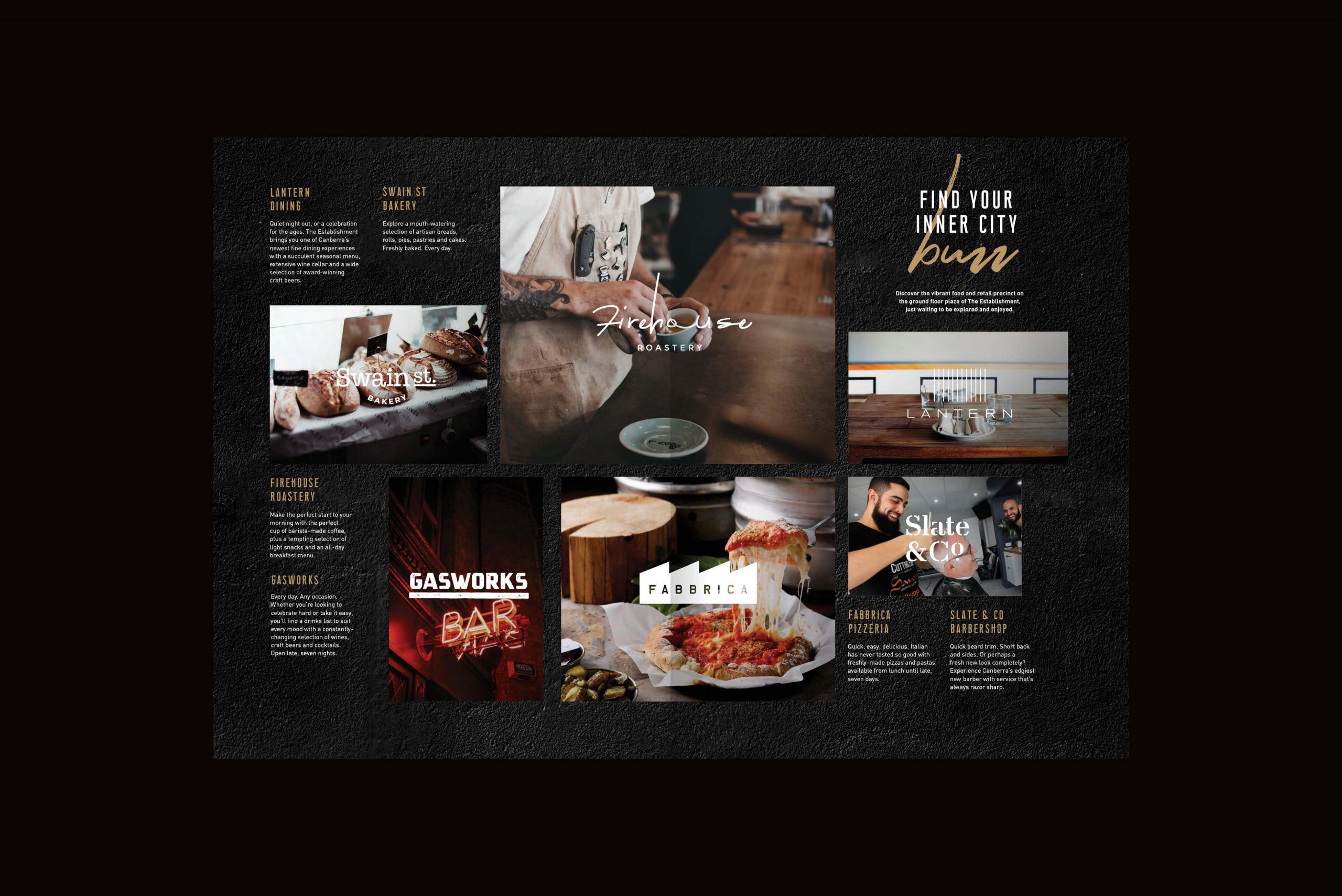 Geocon - The Establishment - Property Identity & Campaign - Local Amenities Brochure Spread