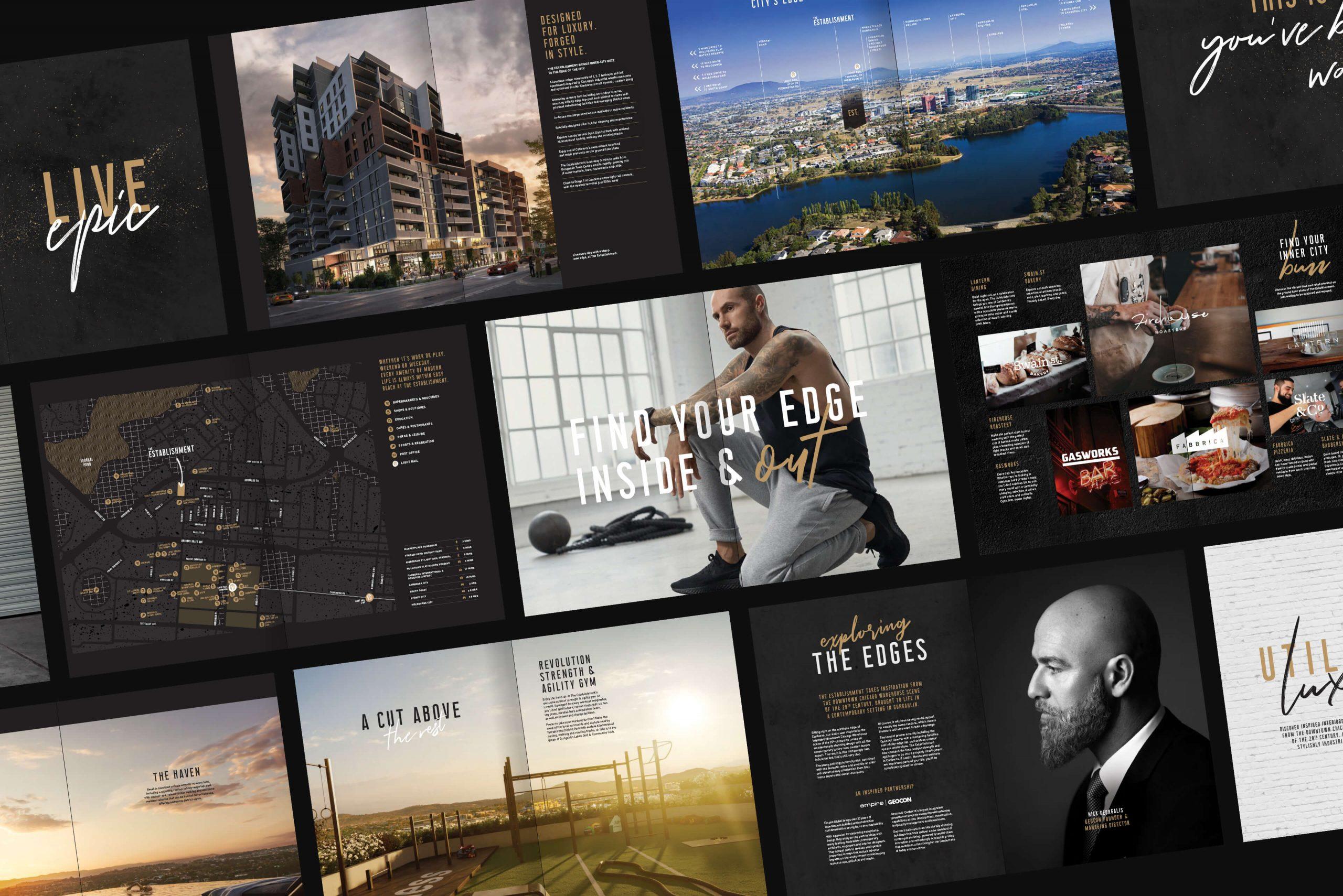 Geocon - The Establishment - Property Identity & Campaign - Brochure Overview Spreads