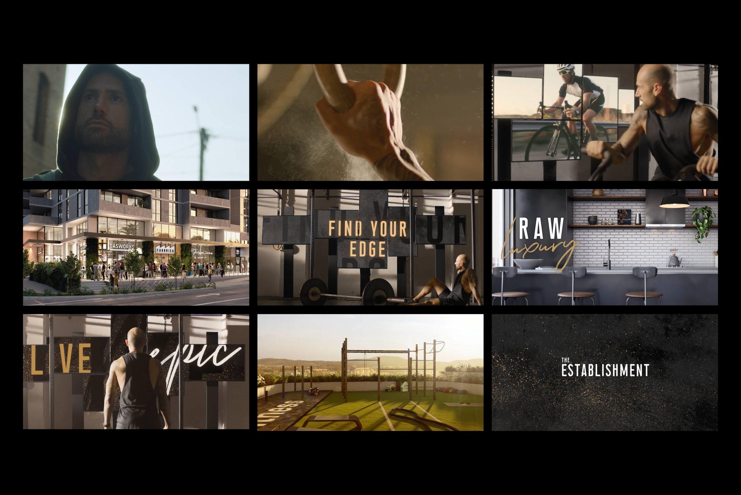 Geocon - The Establishment - Property Identity & Campaign - Sales Launch Video Key Scenes