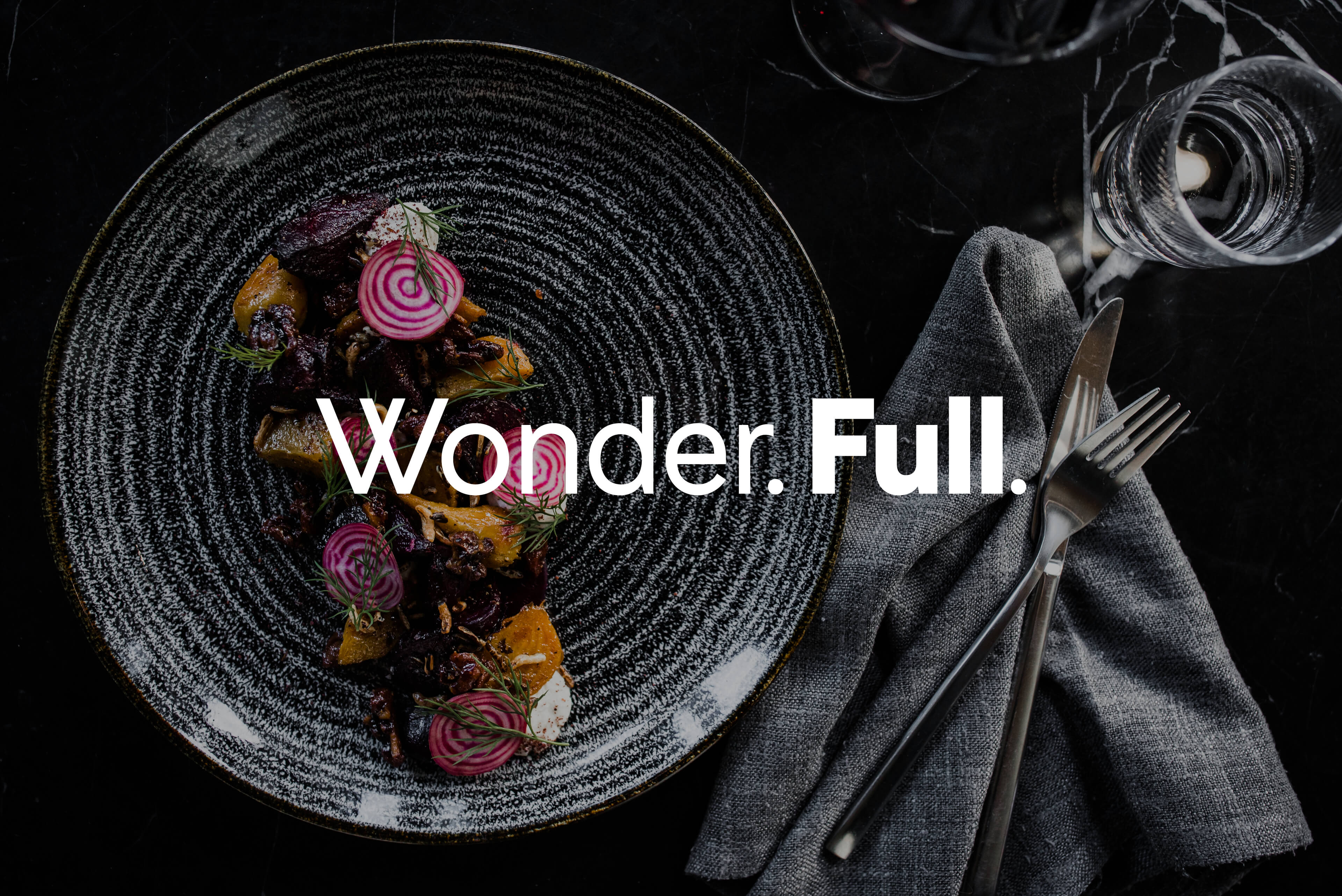 Ovolo Hotels Brand Refresh - Wonder. Full. Logotype with Restaurant Photography