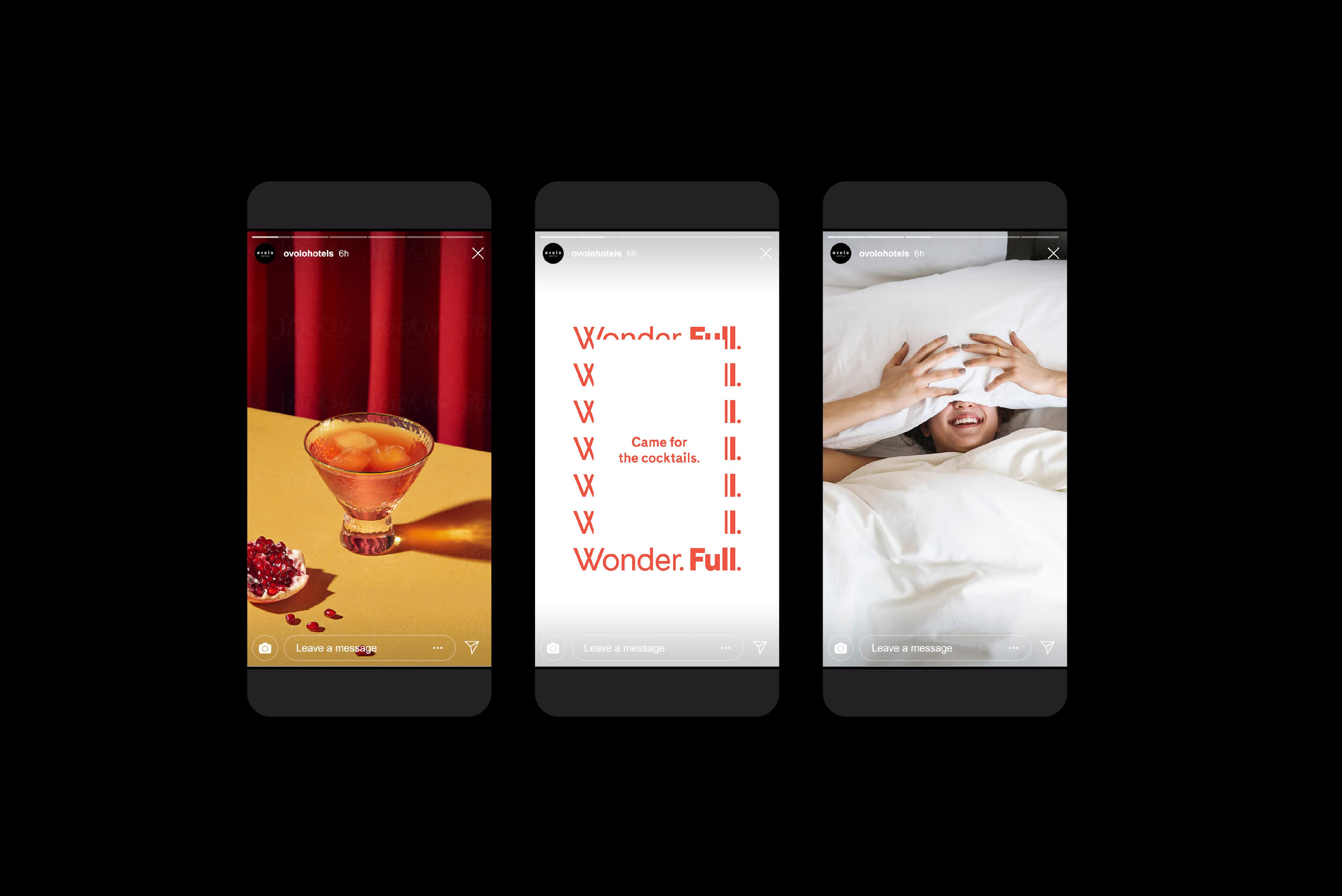 Ovolo Hotels Brand Refresh - Wonder. Full. Instagram Stories Template