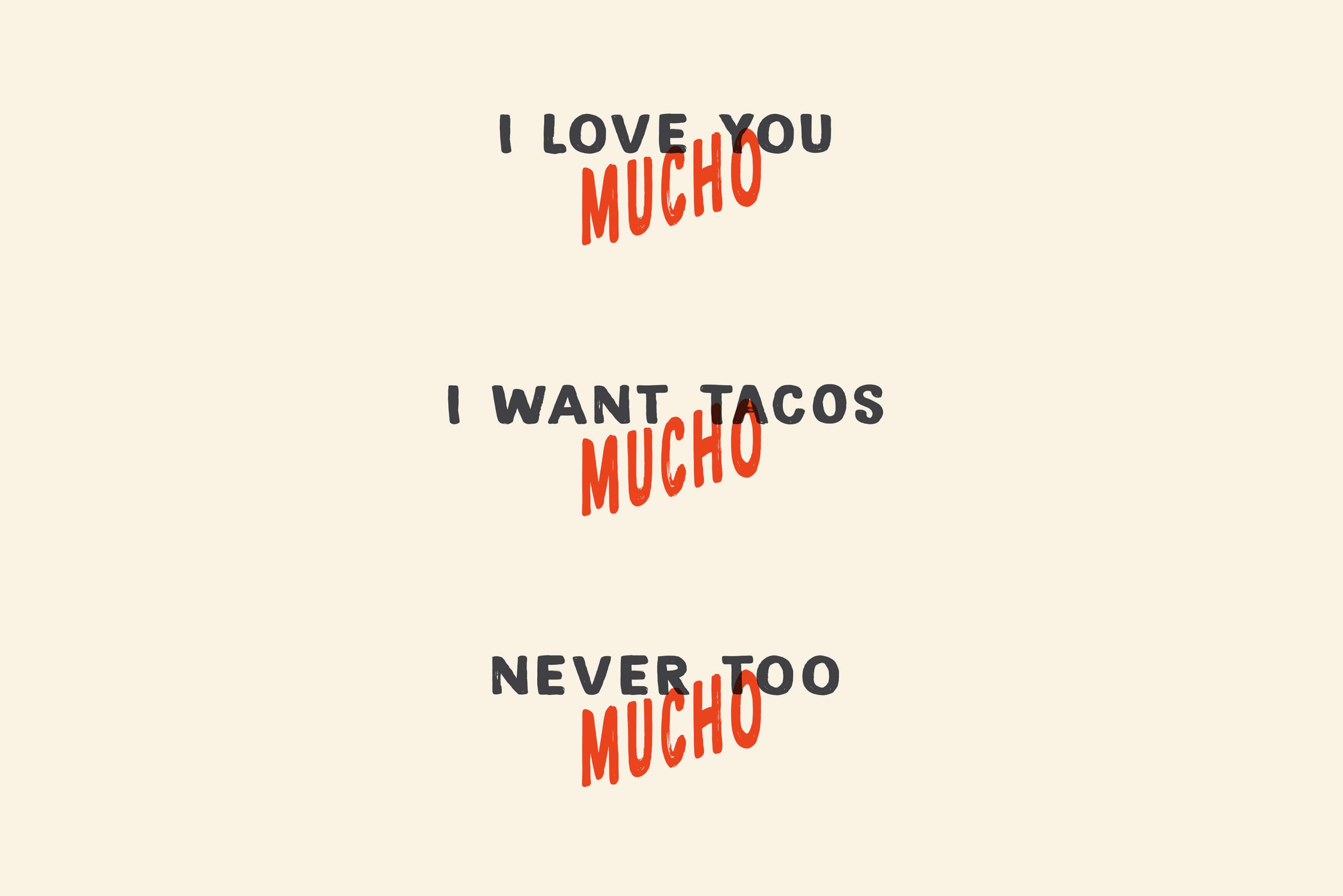 Ovolo Te Quiero Mucho Hospitality Identity - Tone of voice copy statements: I LOVE YOU MUCHO