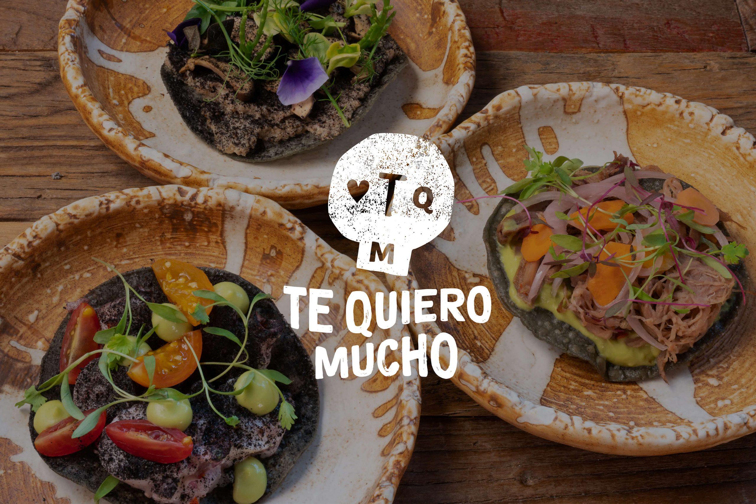 Ovolo Te Quiero Mucho Hospitality Identity - Logotype on food photography