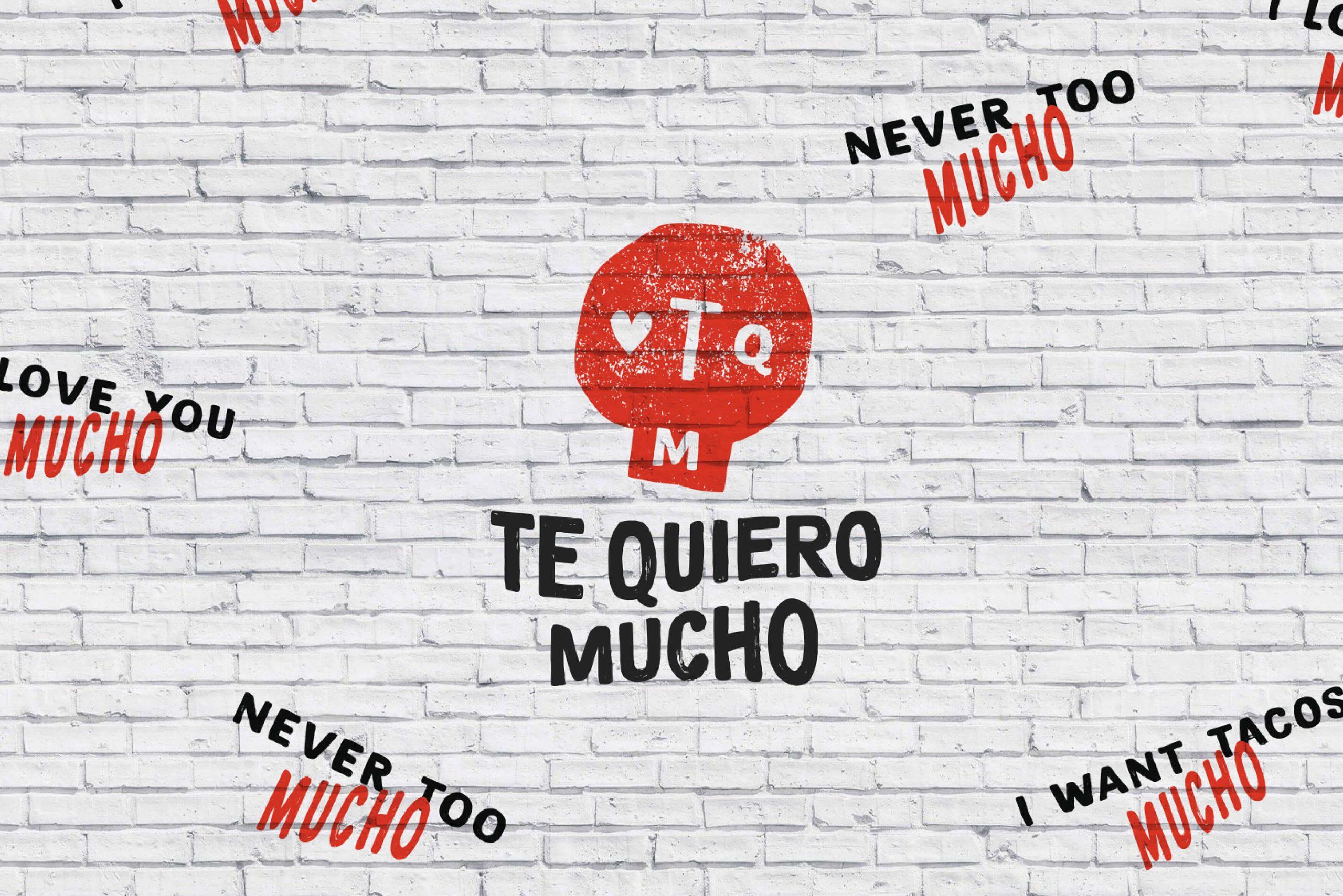 Ovolo Te Quiero Mucho Hospitality Identity - Logotype painted on brick wall