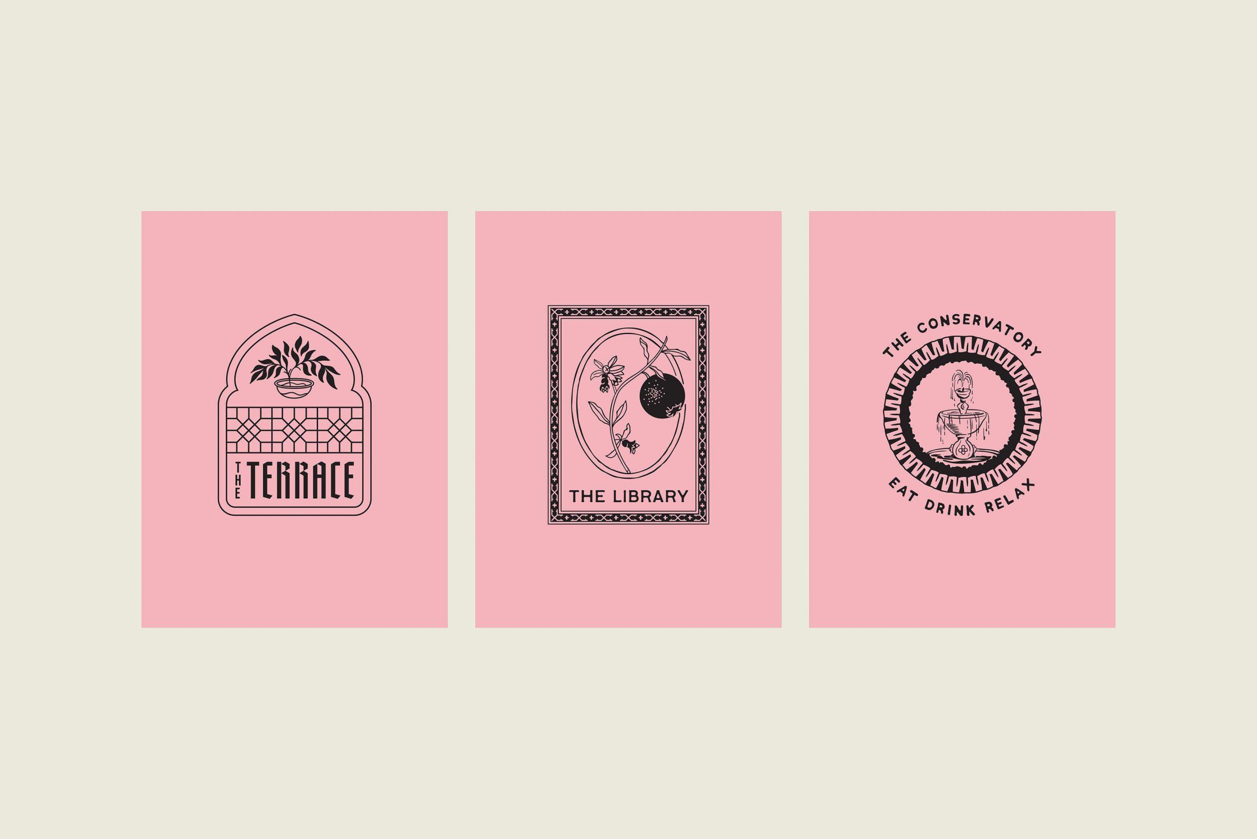 Ovolo Za Za Ta Hospitality Visual Identity - - Individual room badge logos - 1
