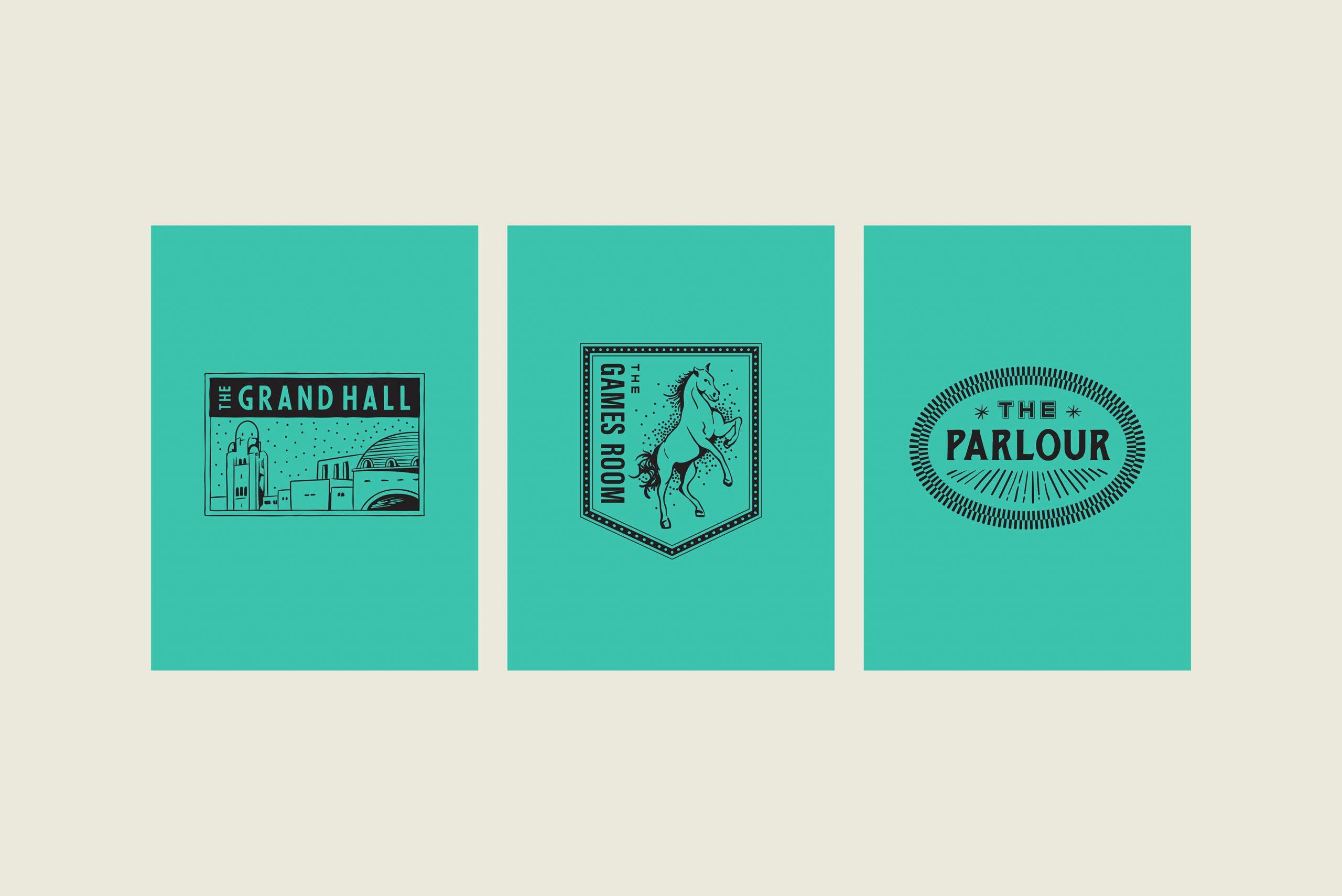 Ovolo Za Za Ta Hospitality Visual Identity - Individual room badge logos - 2