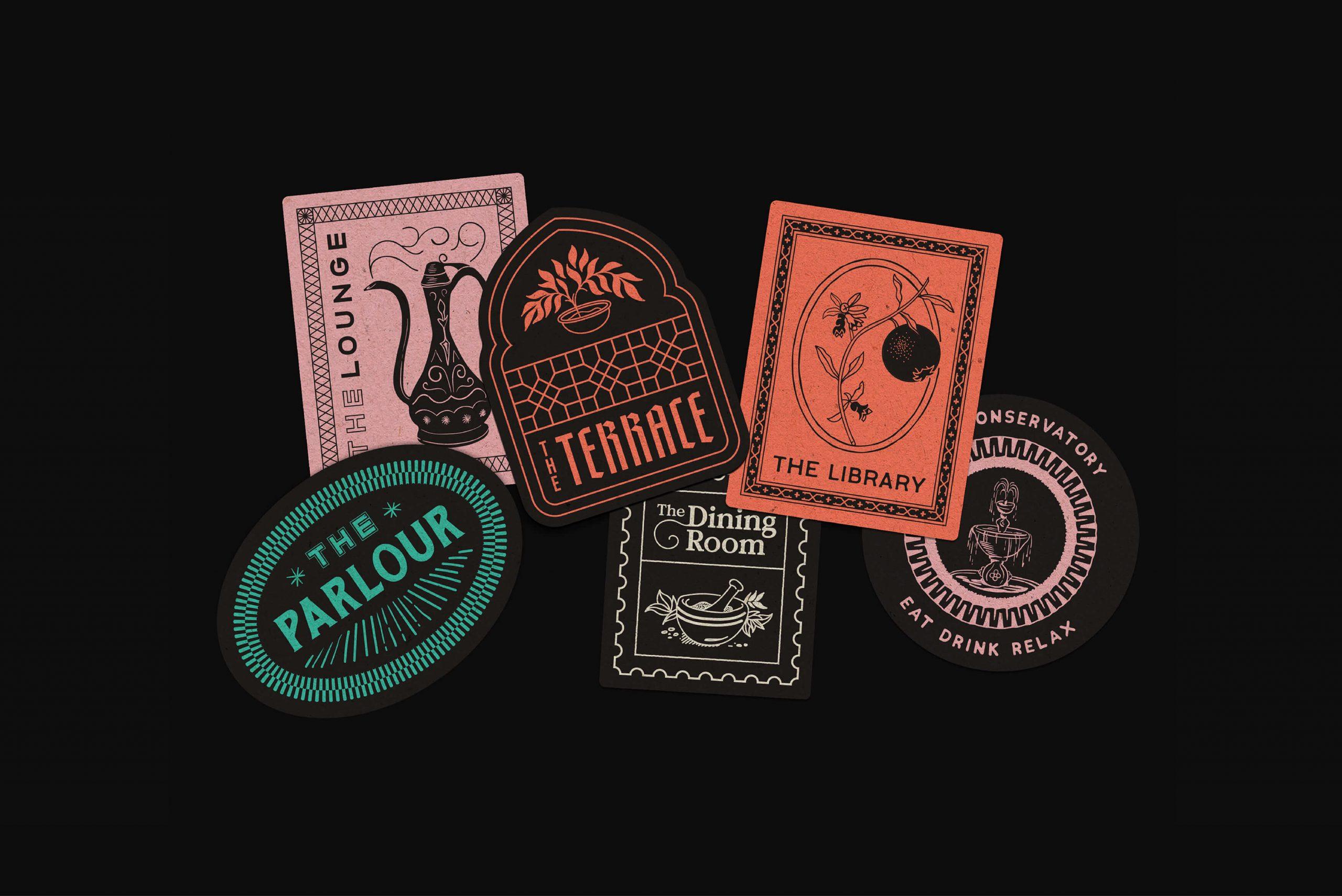 Ovolo Za Za Ta Hospitality Visual Identity - Room badge coasters