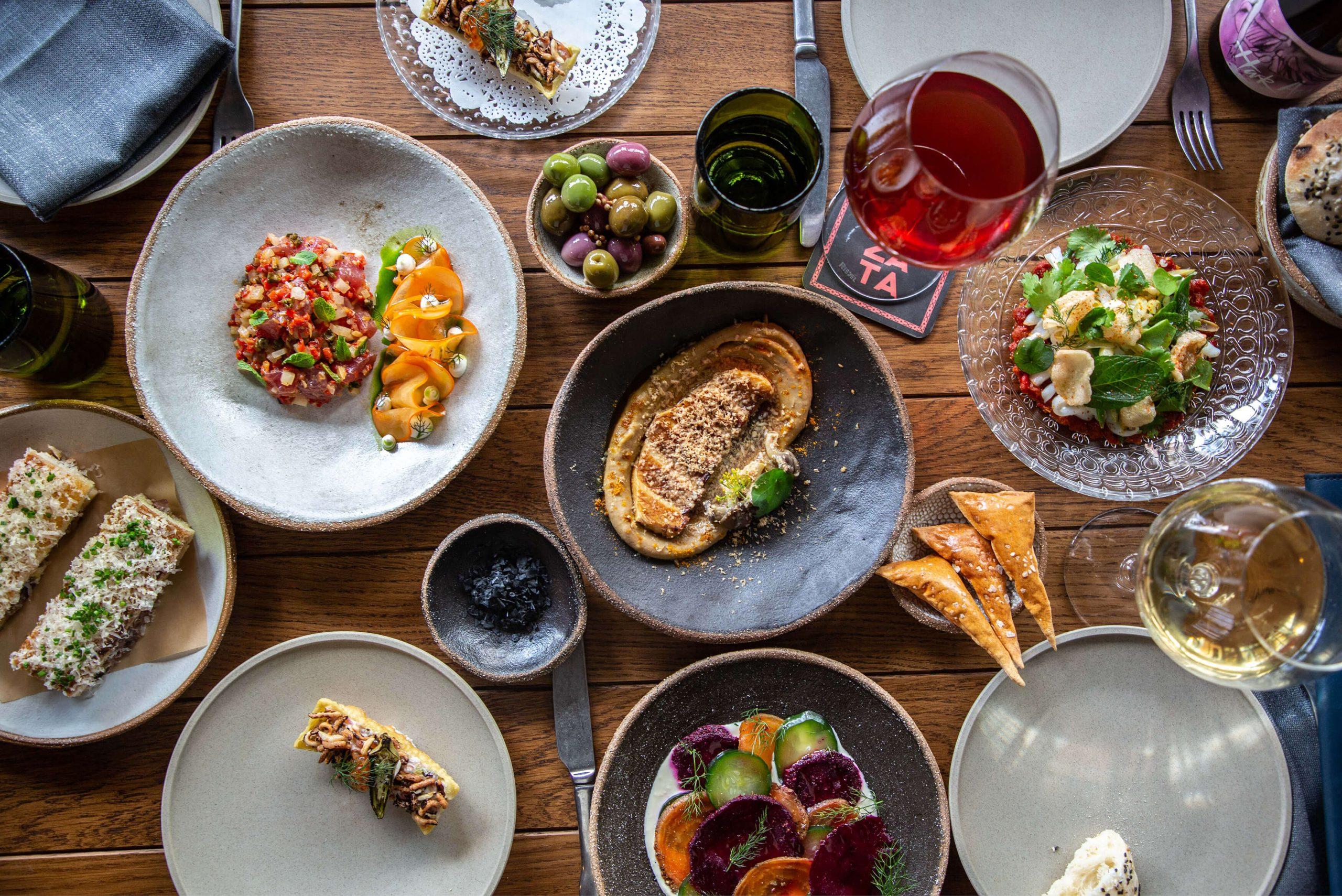 Ovolo Za Za Ta Hospitality Visual Identity - Mezze food plate photograph