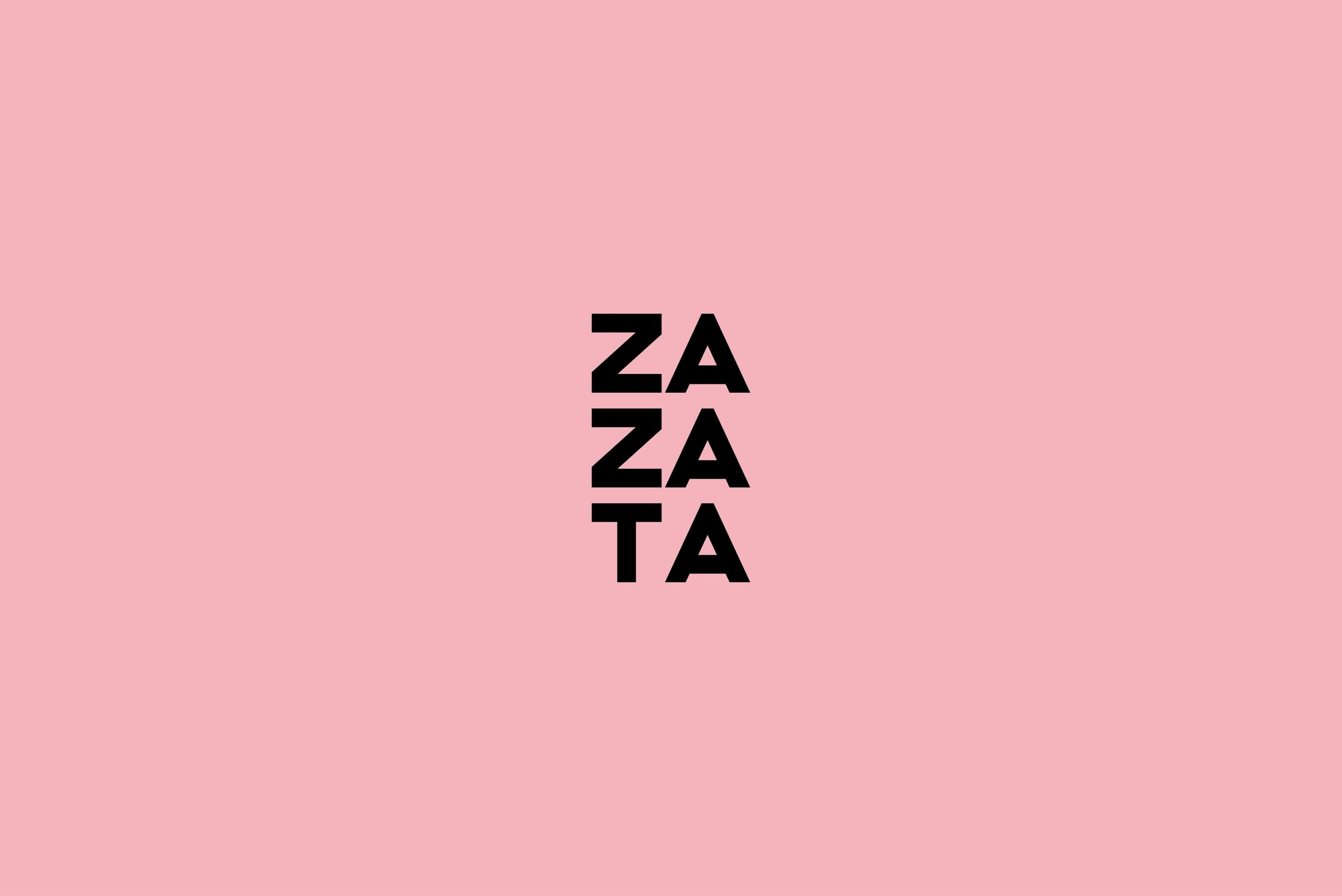 Ovolo Za Za Ta Hospitality Visual Identity - logotype on brand colour background