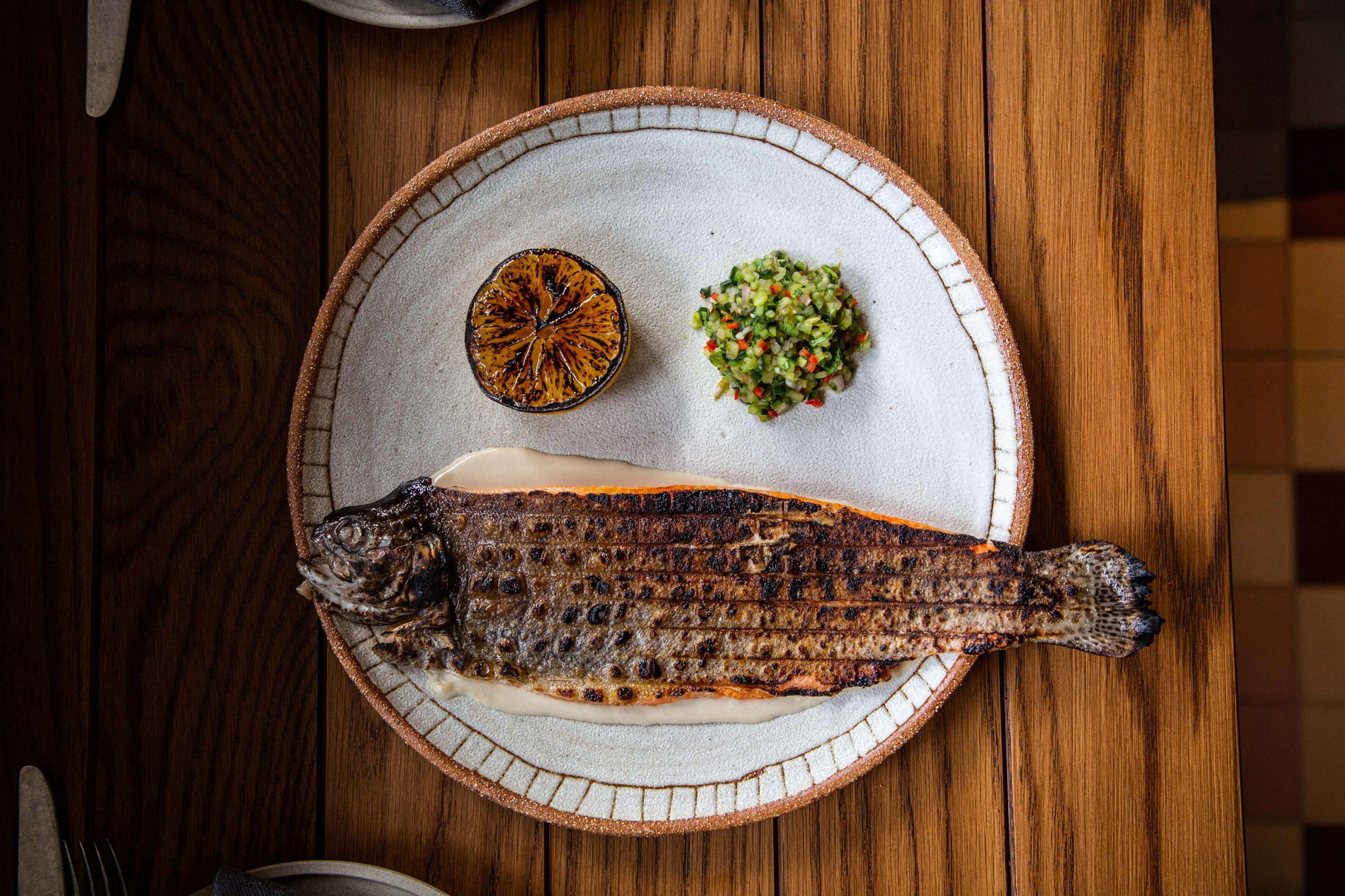 Ovolo Za Za Ta Hospitality Visual Identity - Grilledd fish food photograph