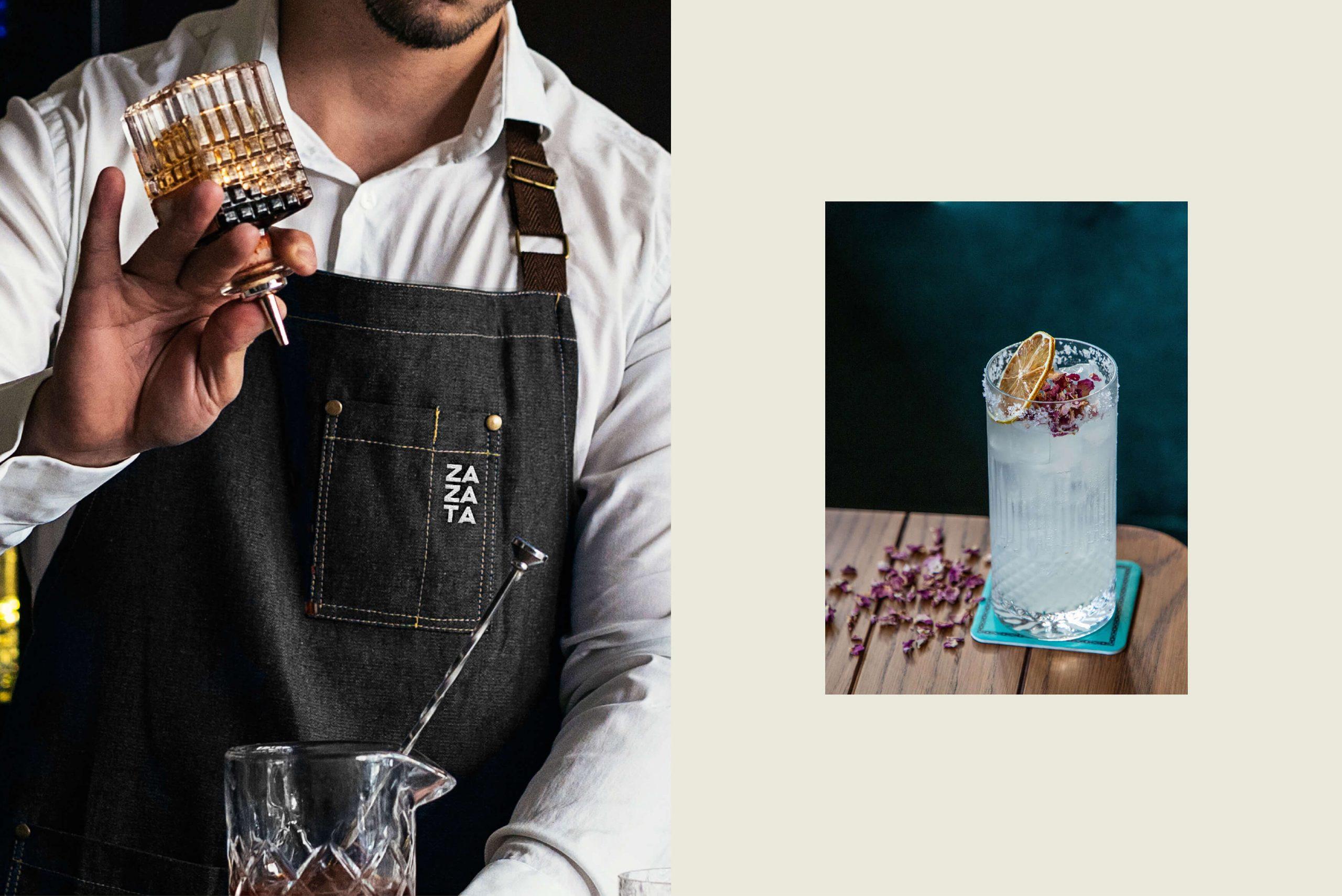 Ovolo Za Za Ta Hospitality Visual Identity - Mixologist and cocktail photography