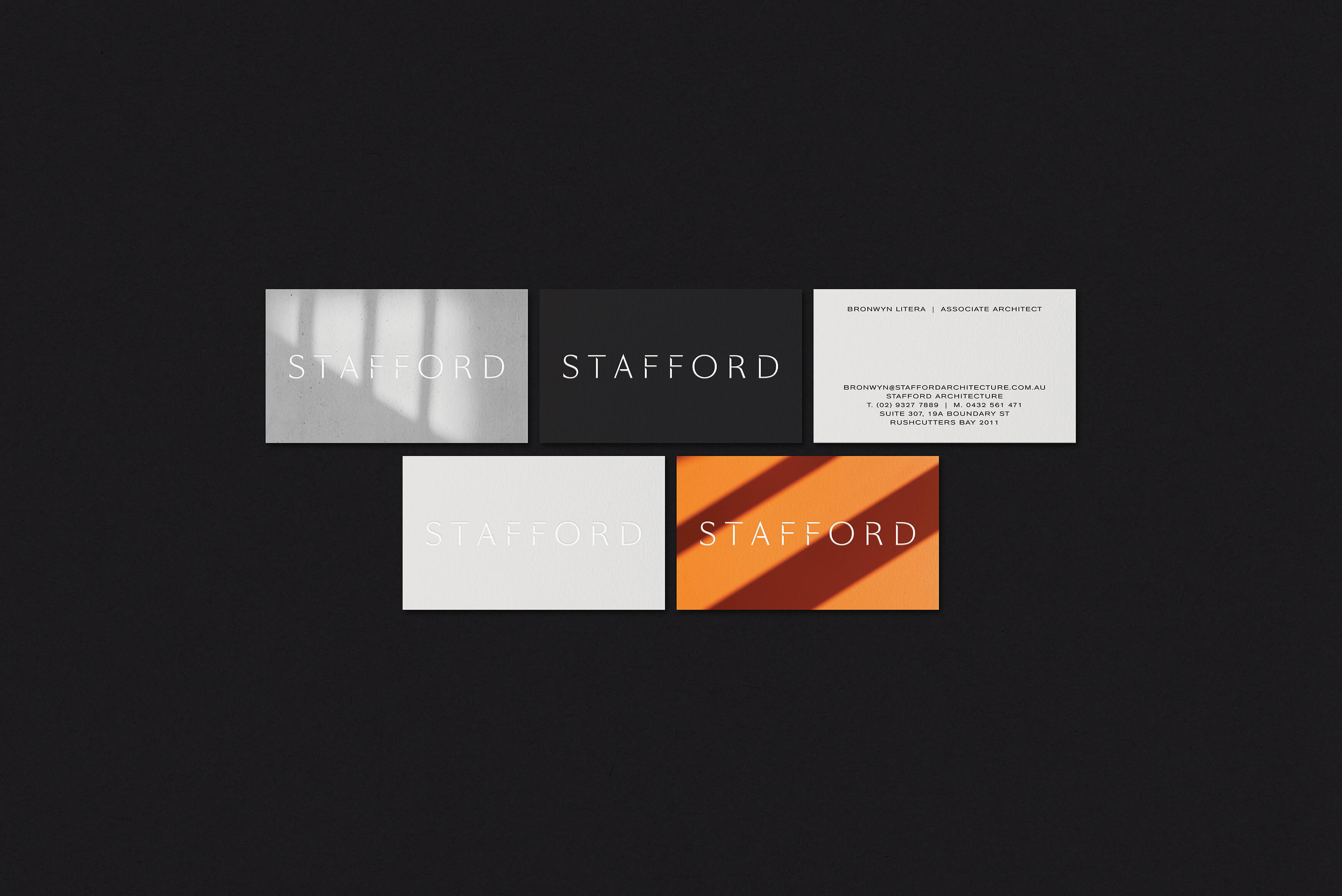 Stafford Architecture - Business cards