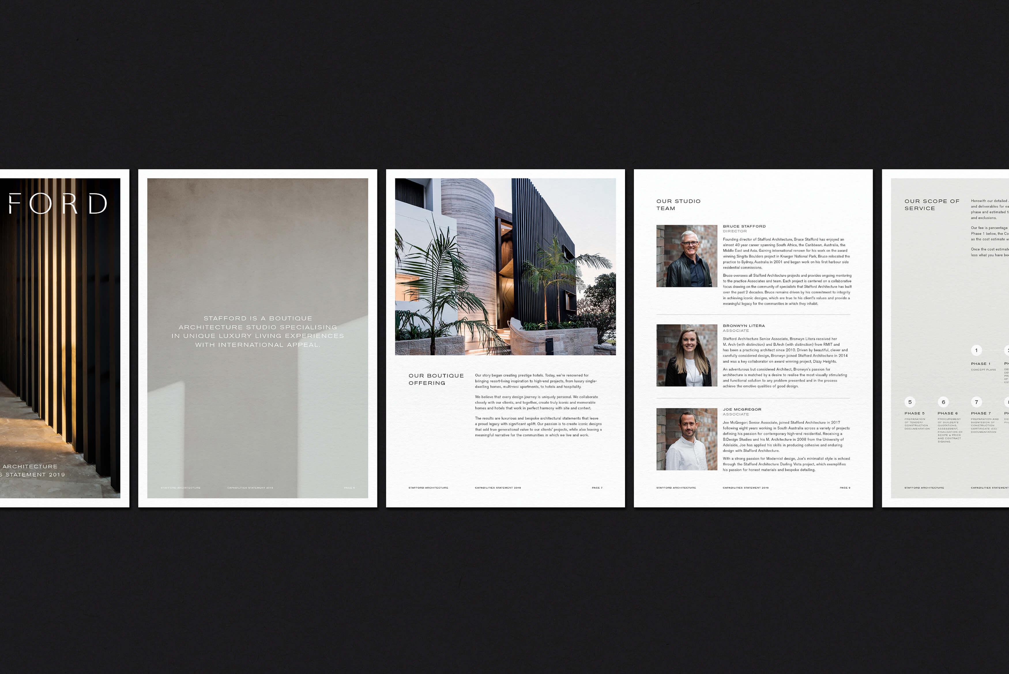 Stafford Architecture - Capabilities Statement design