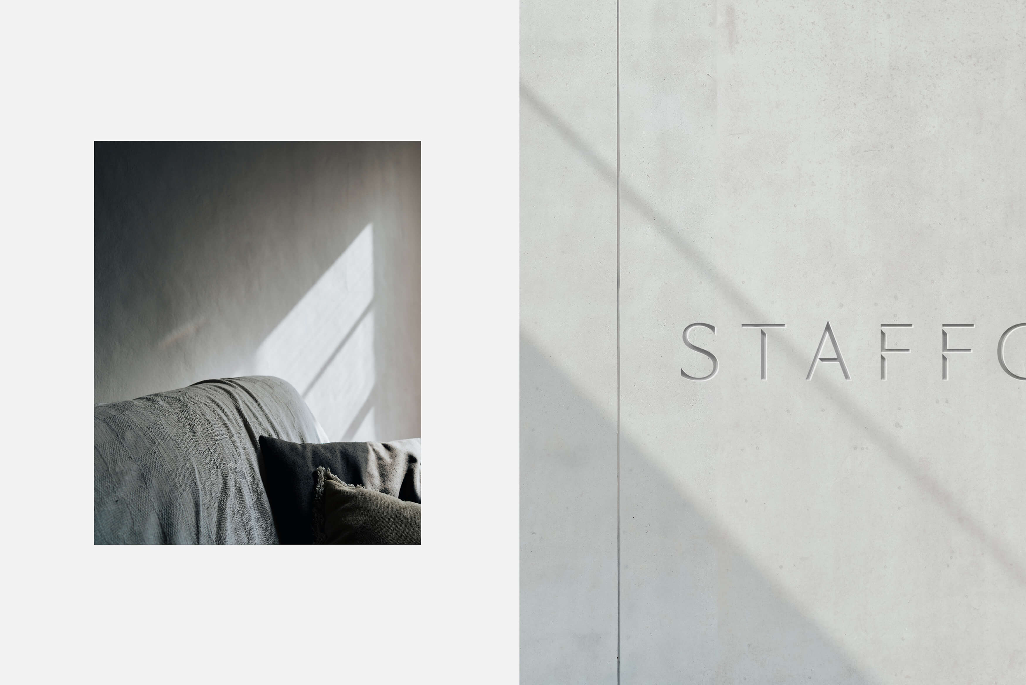 Stafford Architecture - Interior photograph and concrete etched logotype