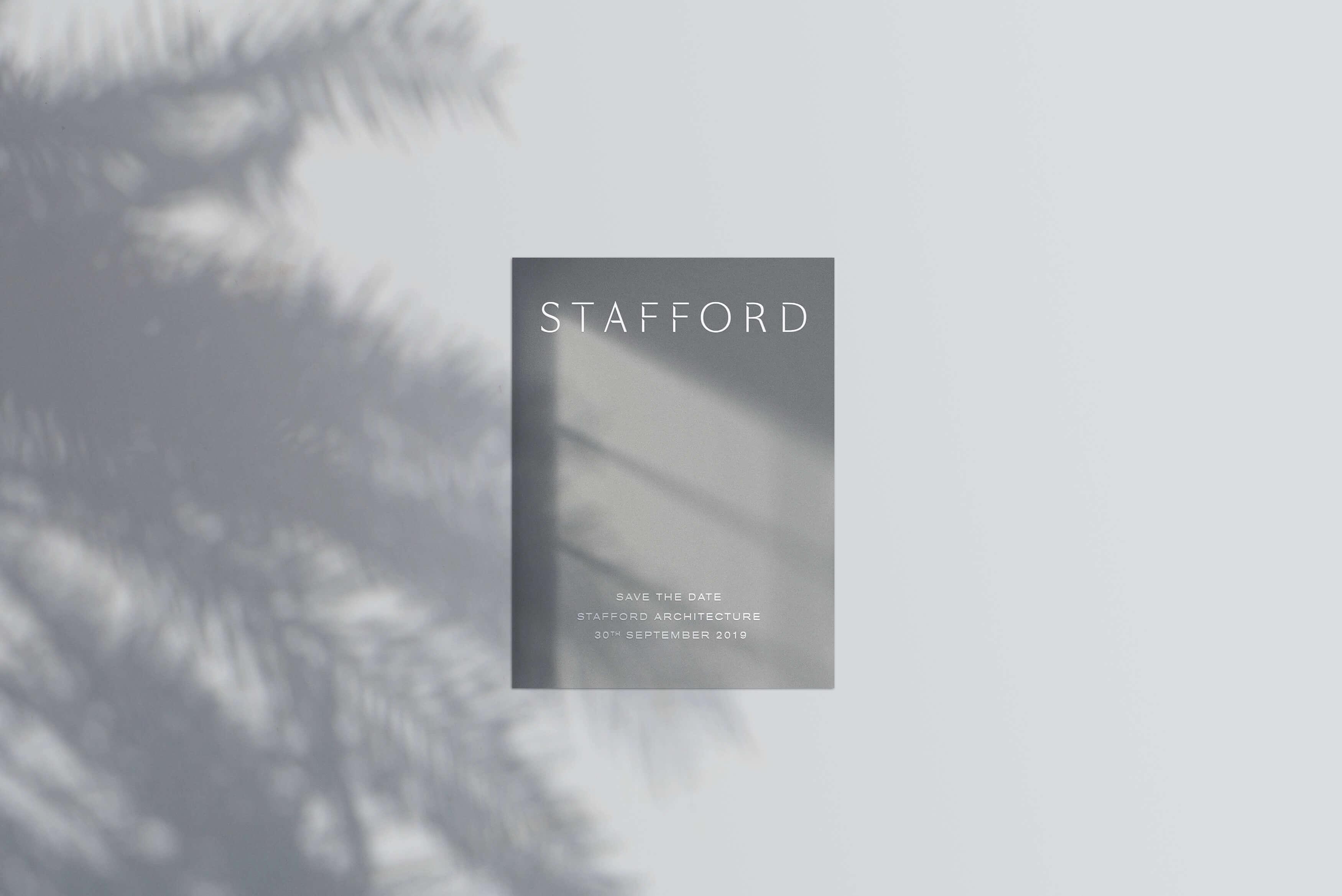 Stafford Architecture - Brand launch event invite