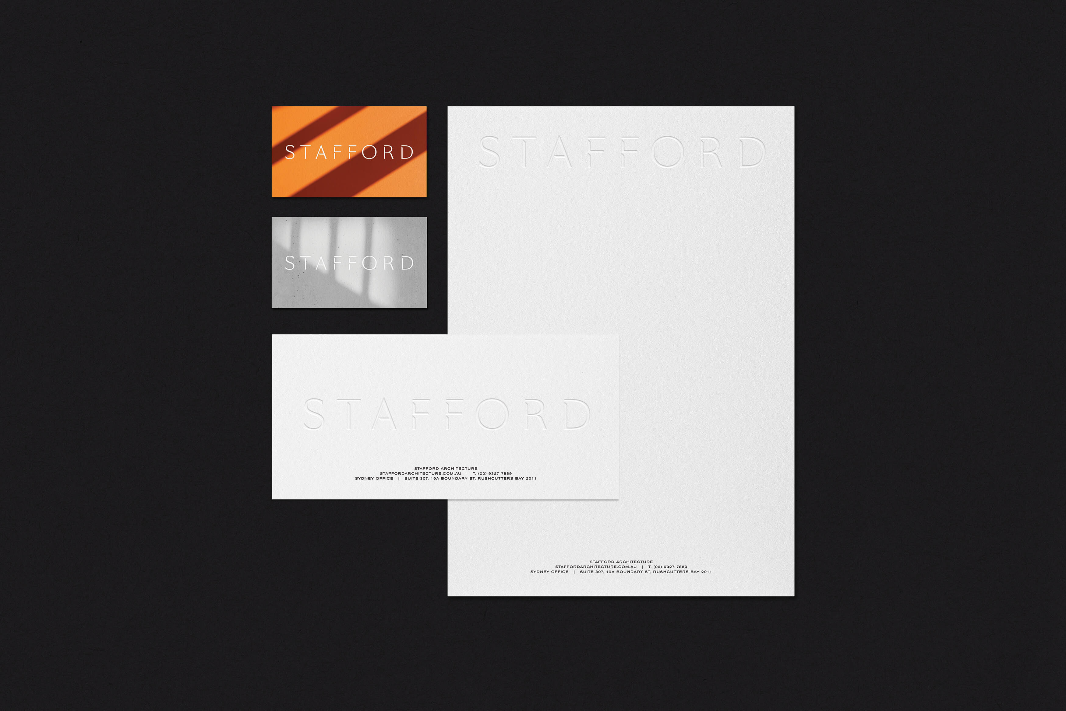 Stafford Architecture - Stationery suite