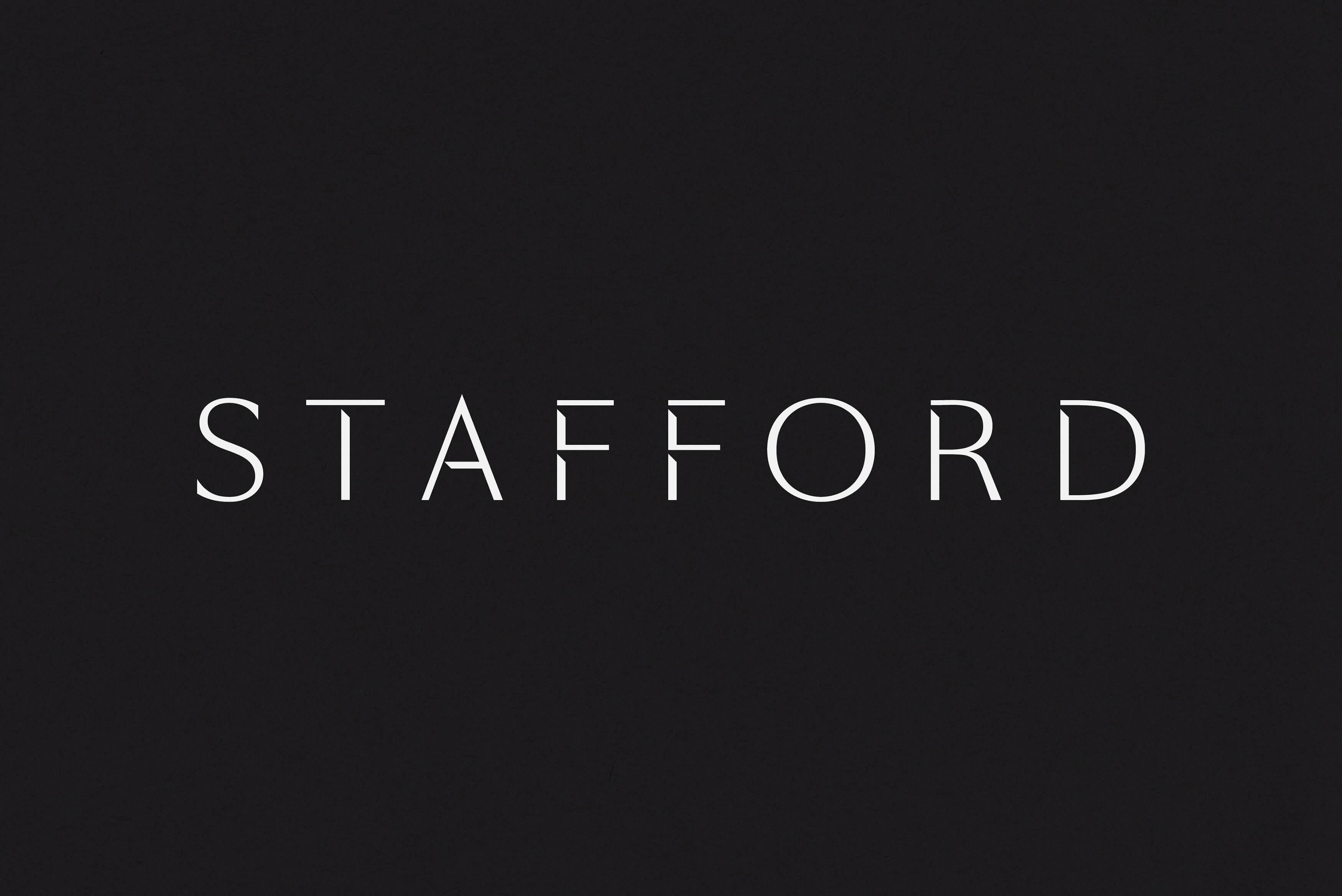 Stafford Architecture - Brand logotype on black background