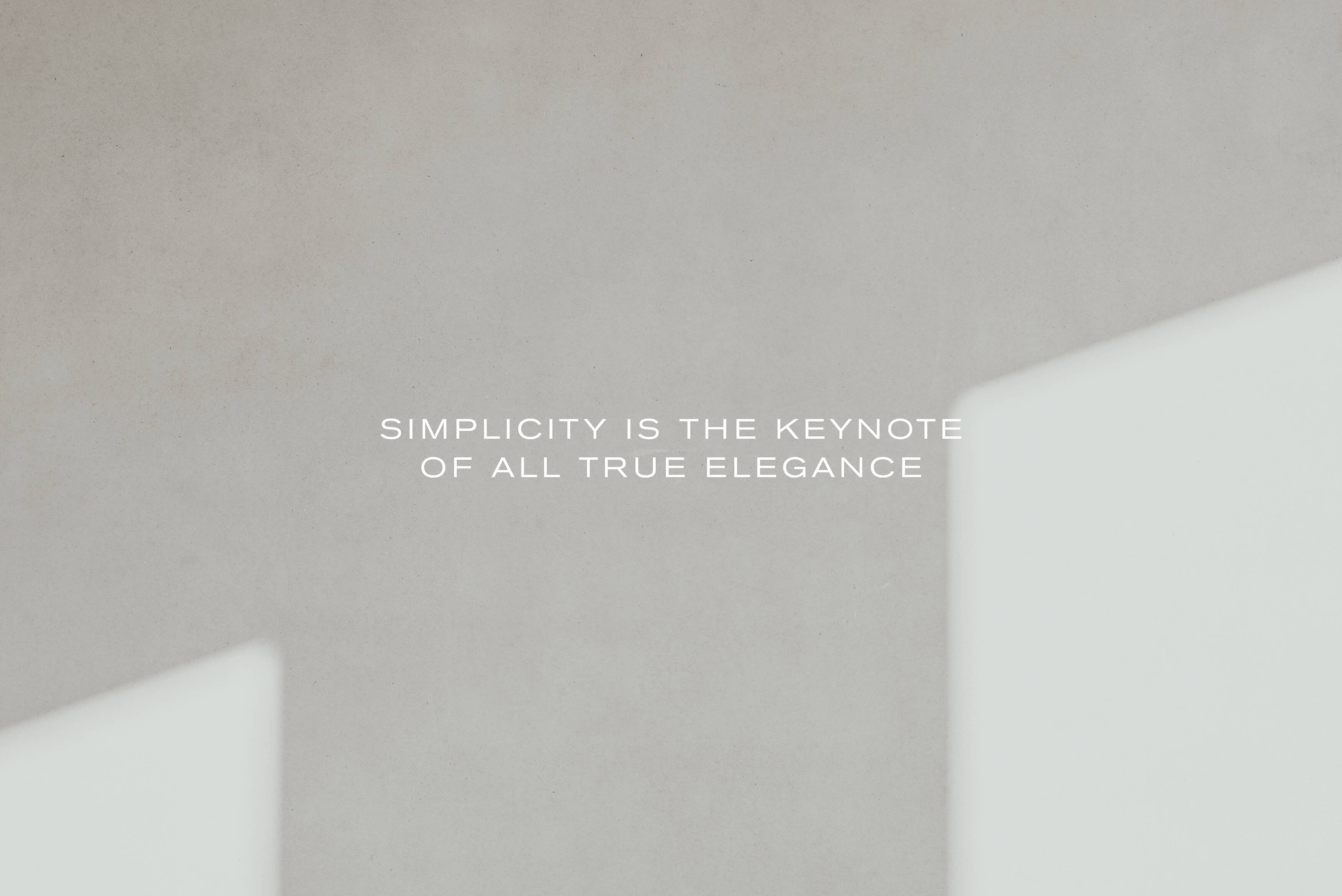 Stafford Architecture - Brand Statement, Simplicity is the keynote of all true elegance