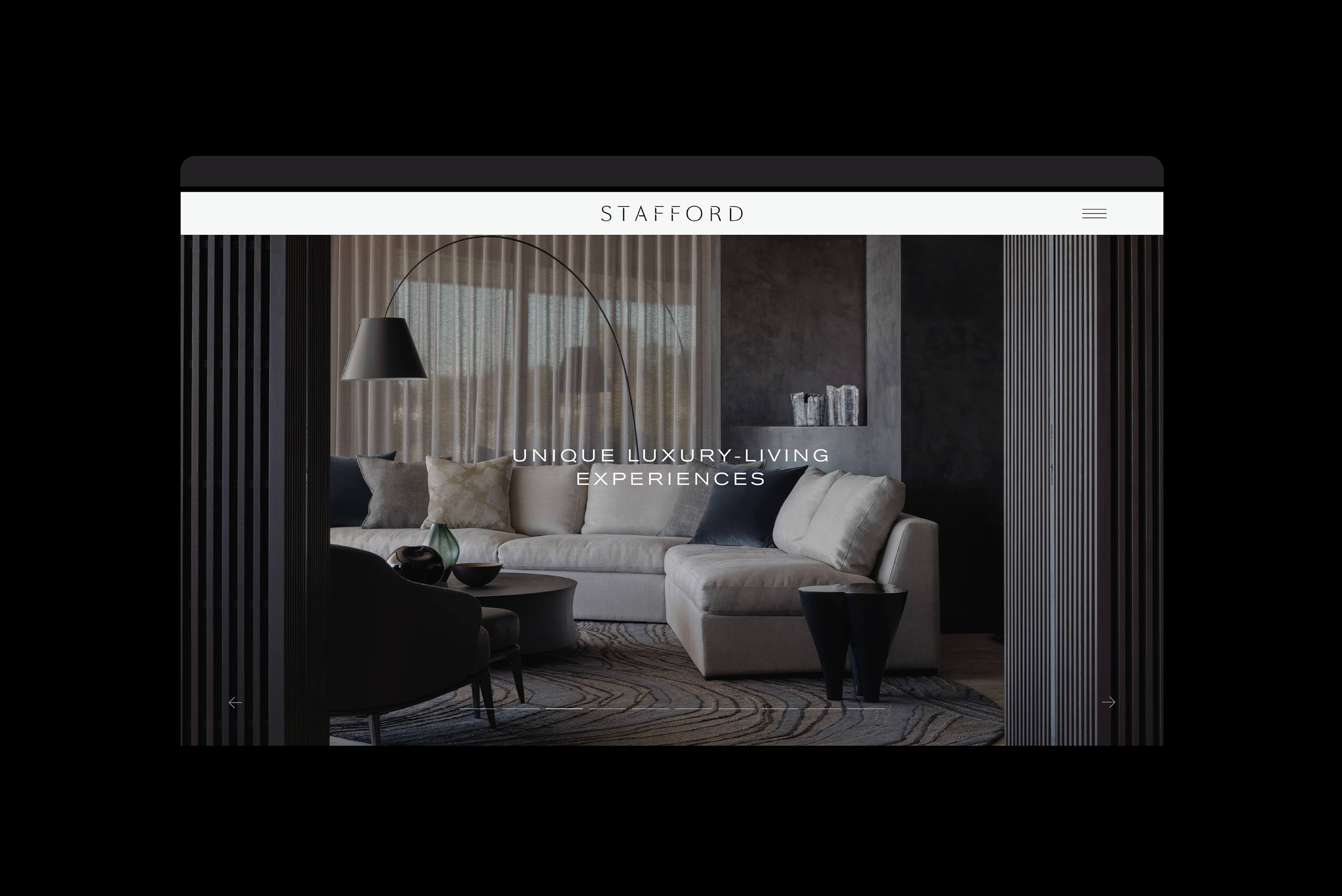 Stafford Architecture - Digital experience, website visual of project page on desktop